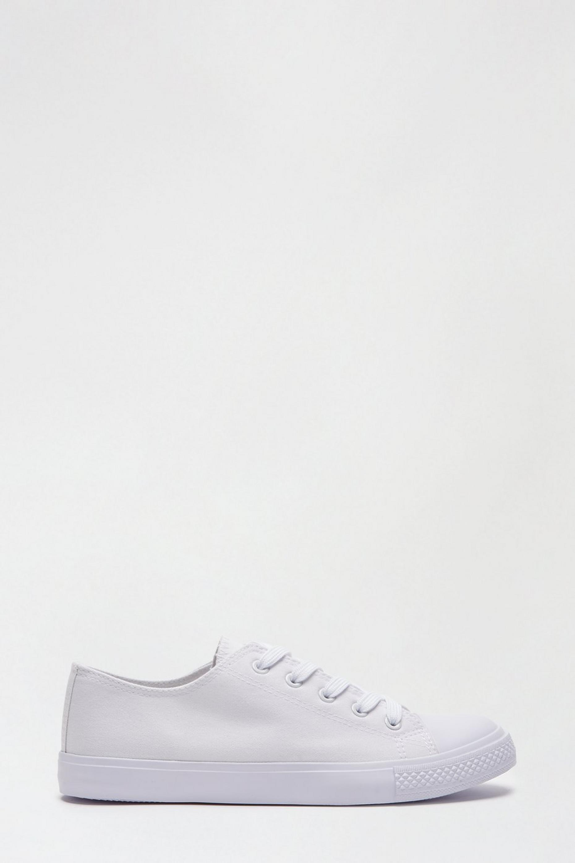 White Icon Canvas Trainers