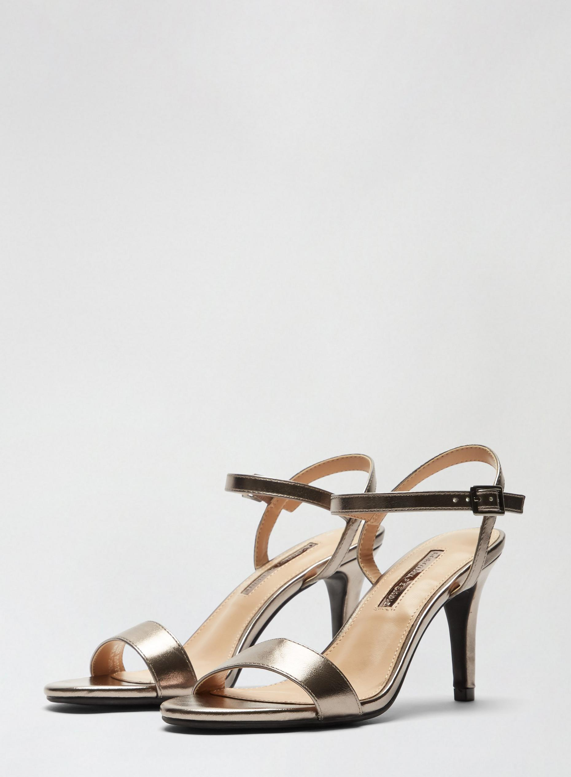 Pewter Sizzle Heeled Sandals