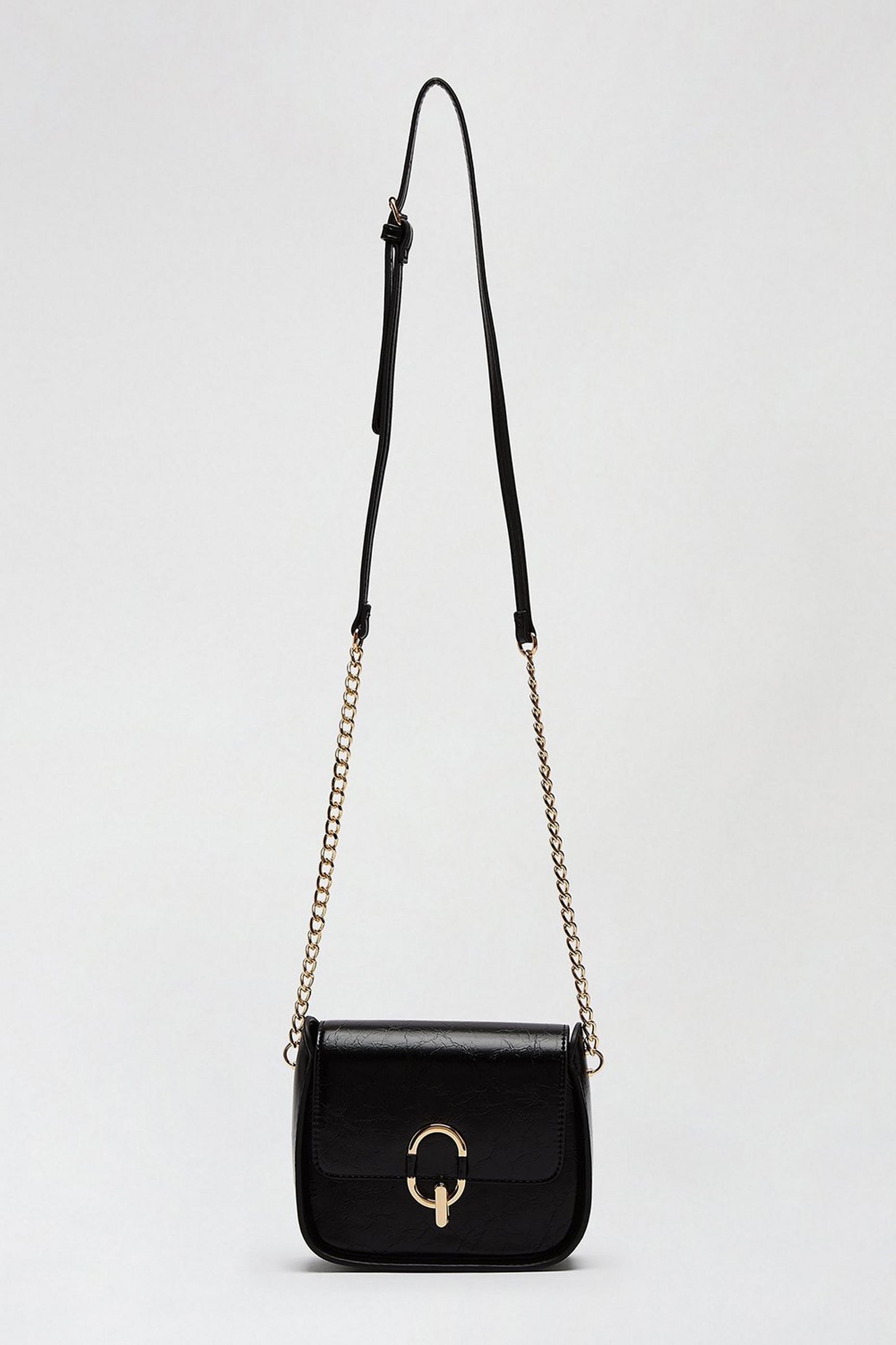 Black Oval Ring Saddle Bag