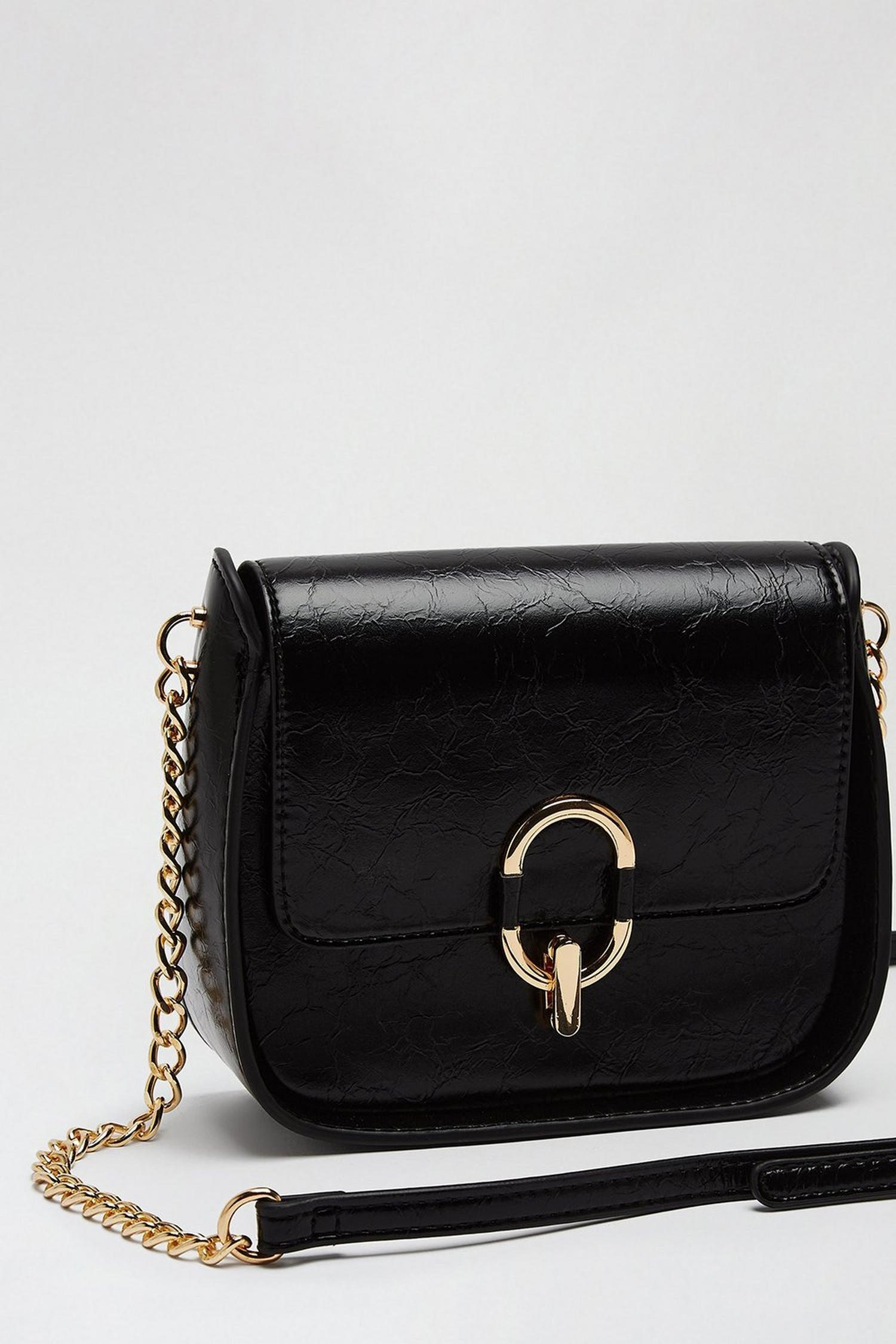 105 Black Oval Ring Saddle Bag image number 3