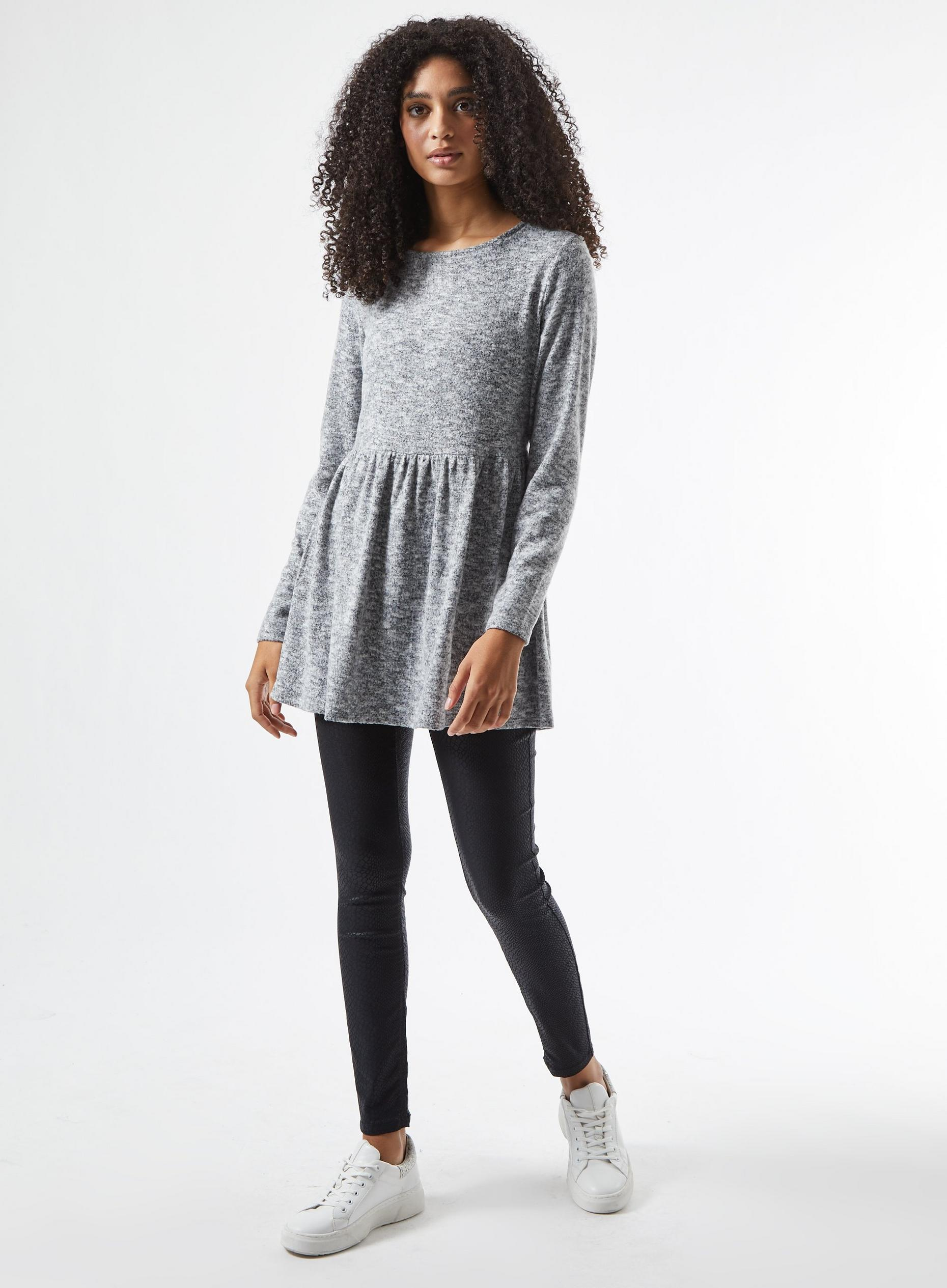 Grey Marl Soft Touch Tunic