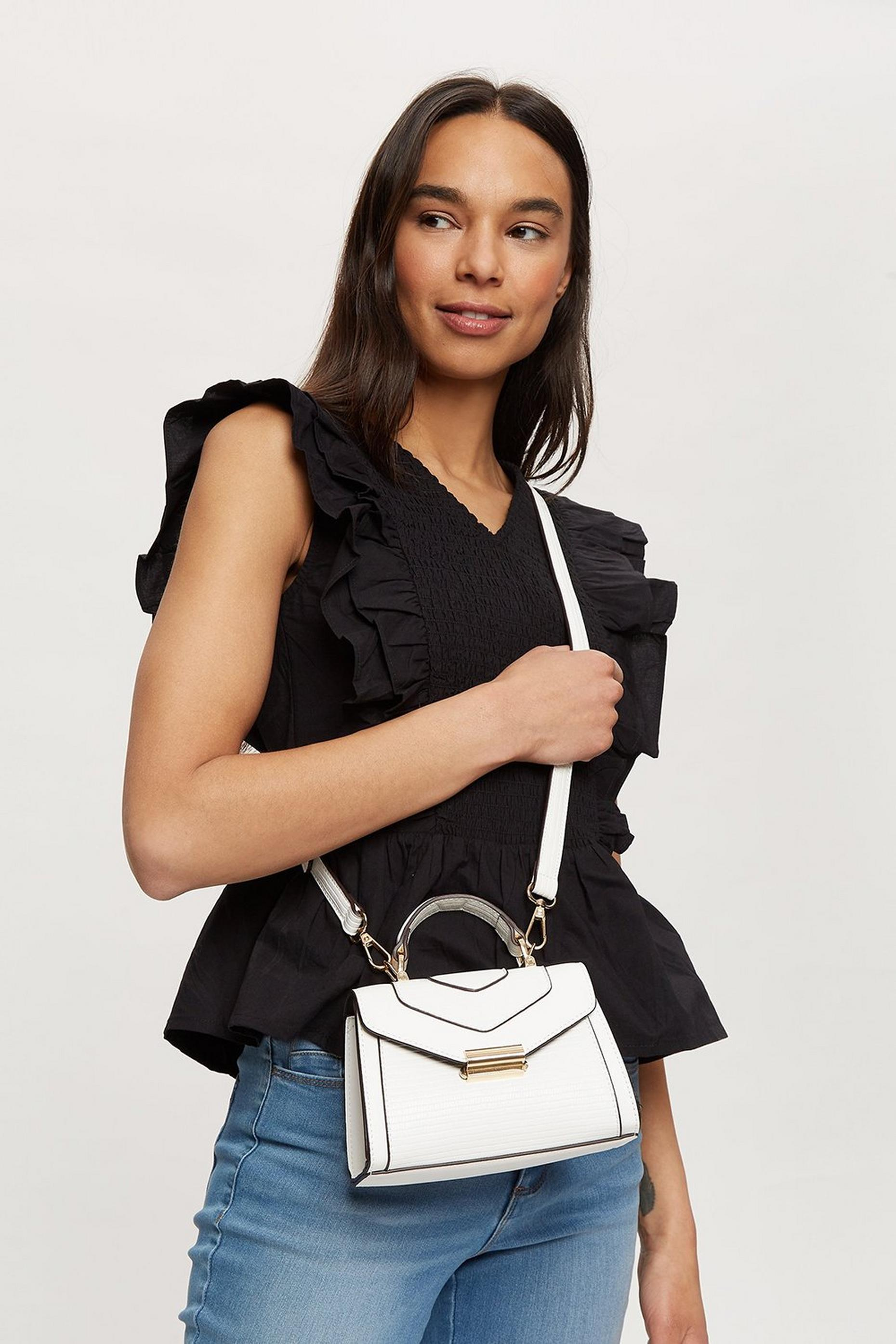 White Mino Cross Body Bag