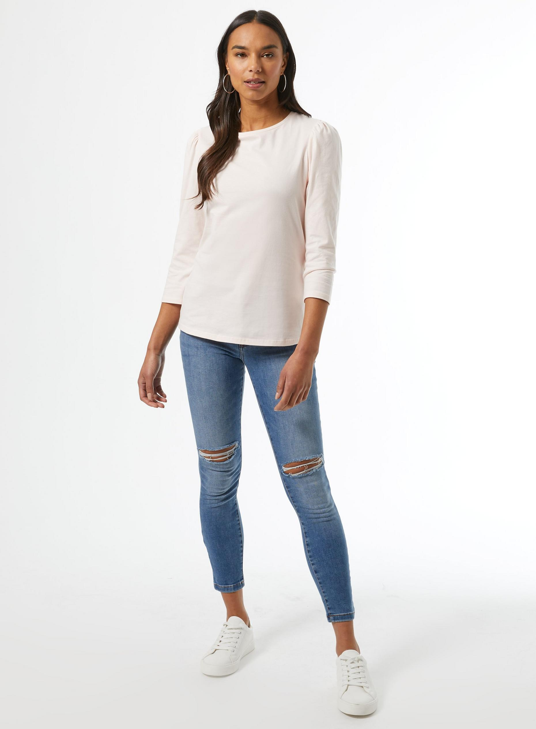 Blush Organic Cotton Puff Sleeve Top