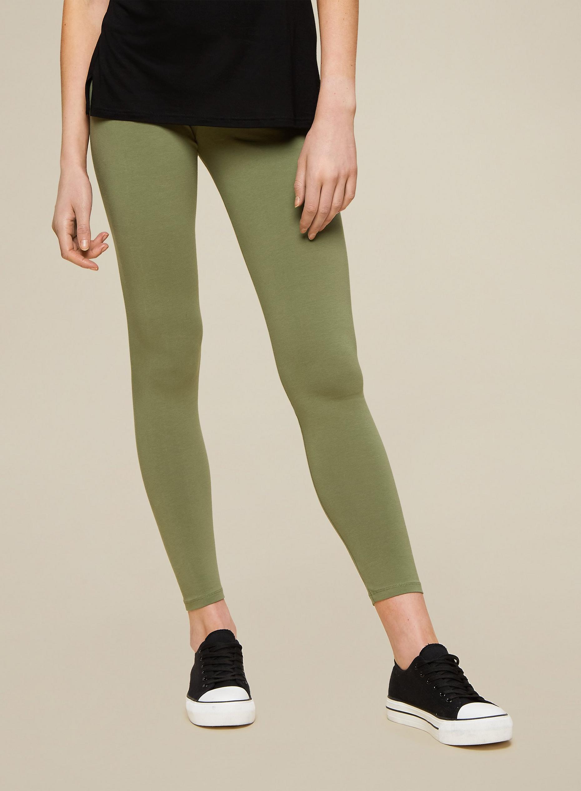 Khaki Basic Leggings
