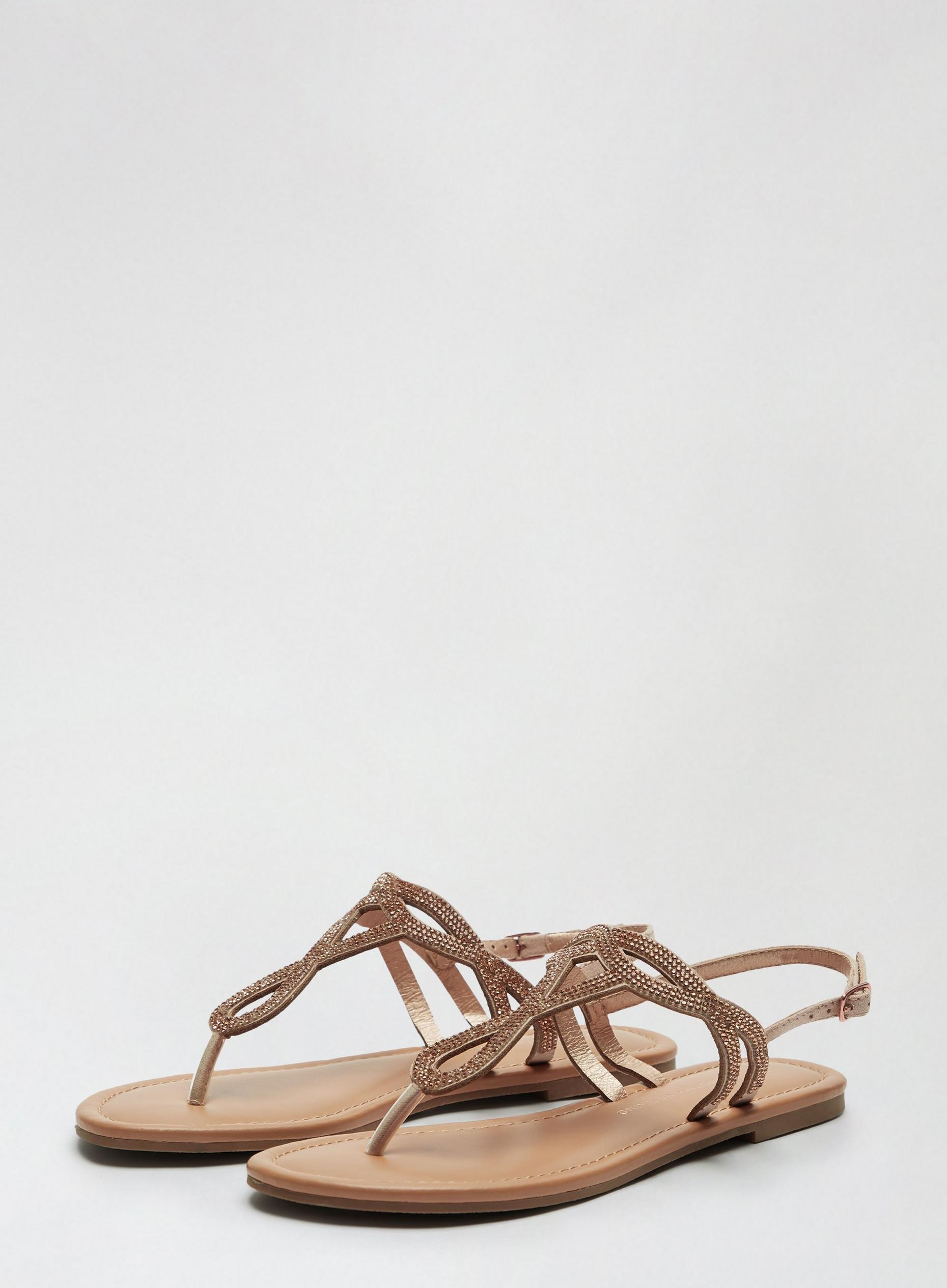 Beige Freddie Toe Post Sandal