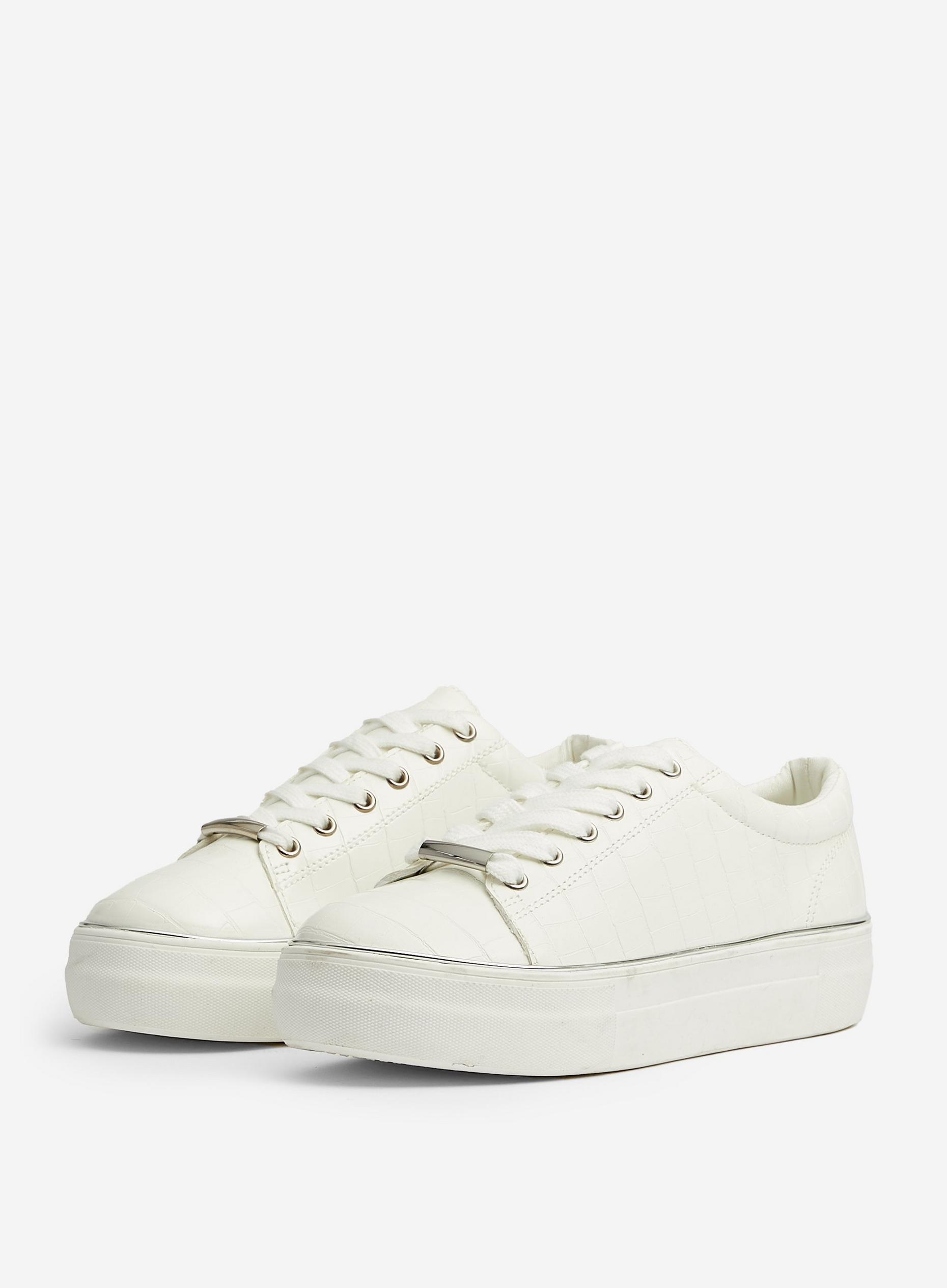 White Ignite Croc Trainers