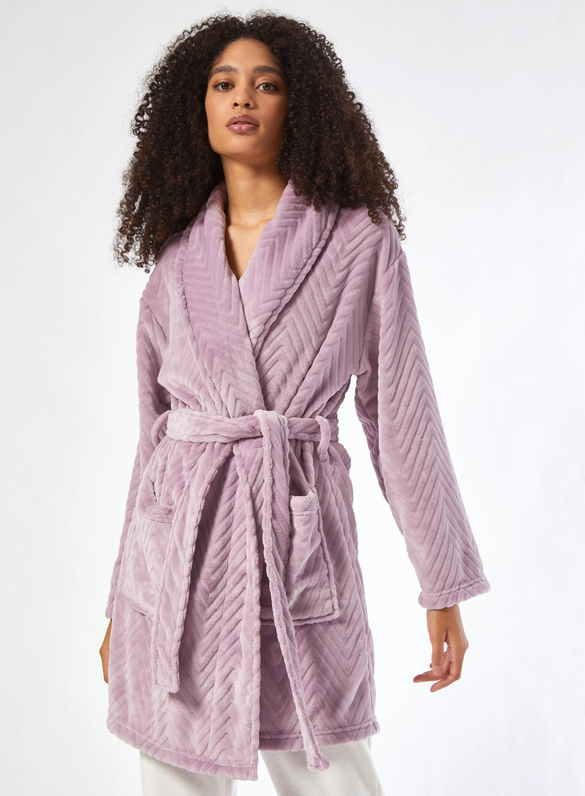 Pink Rose Cut Slinky Robe