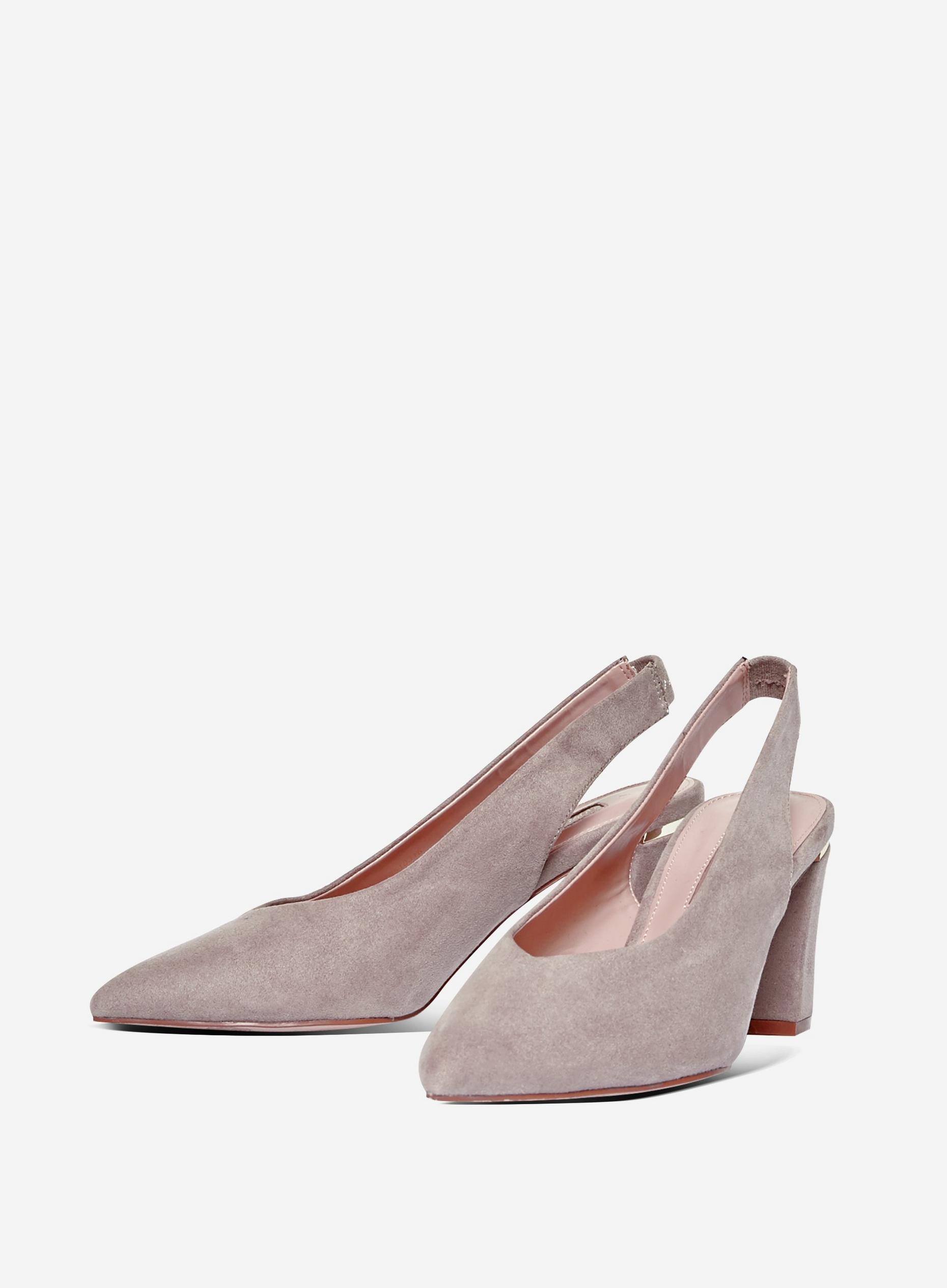 Taupe Emily Slingback Court Shoes