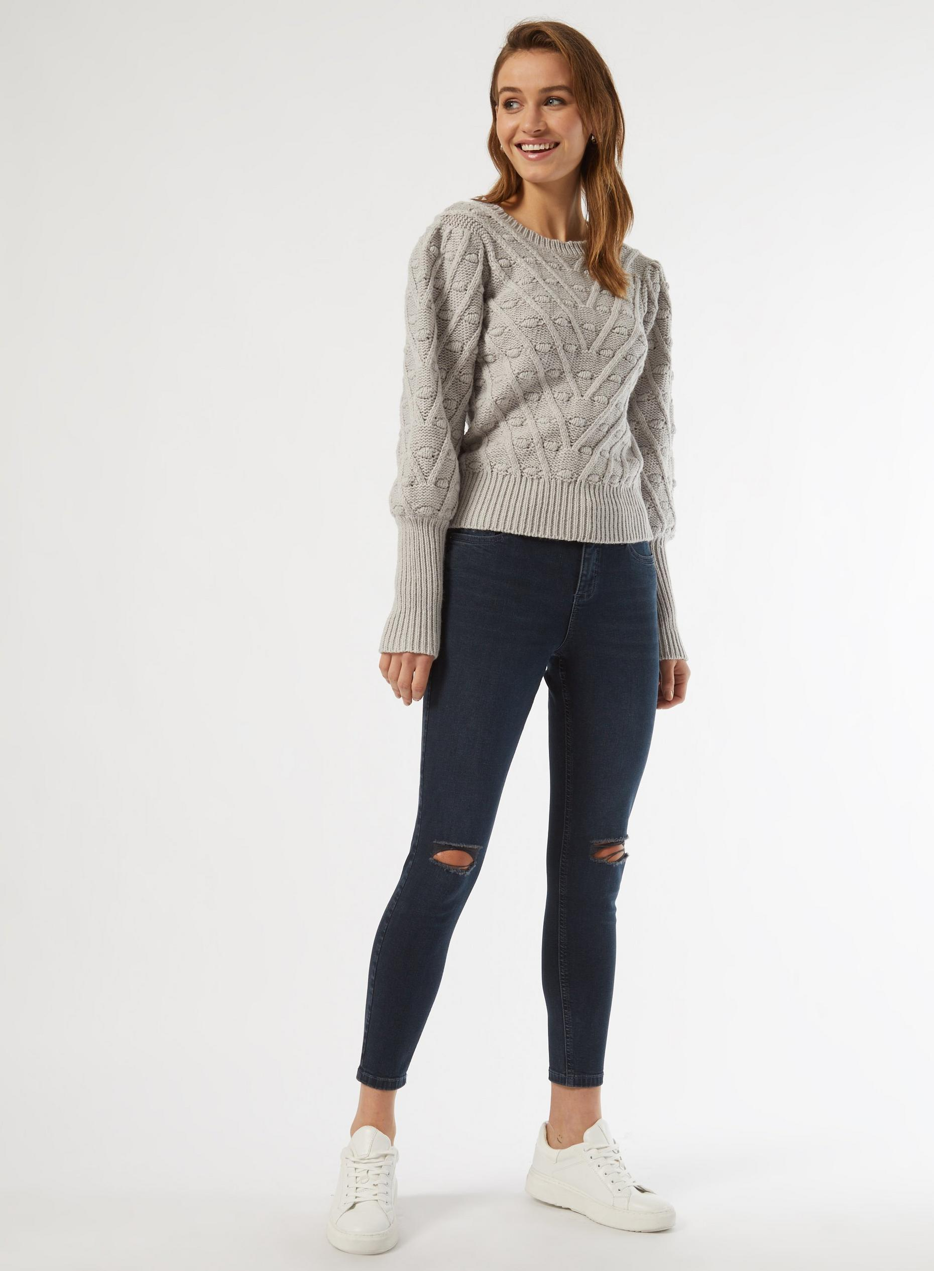 Grey Marl Bobble Jumper