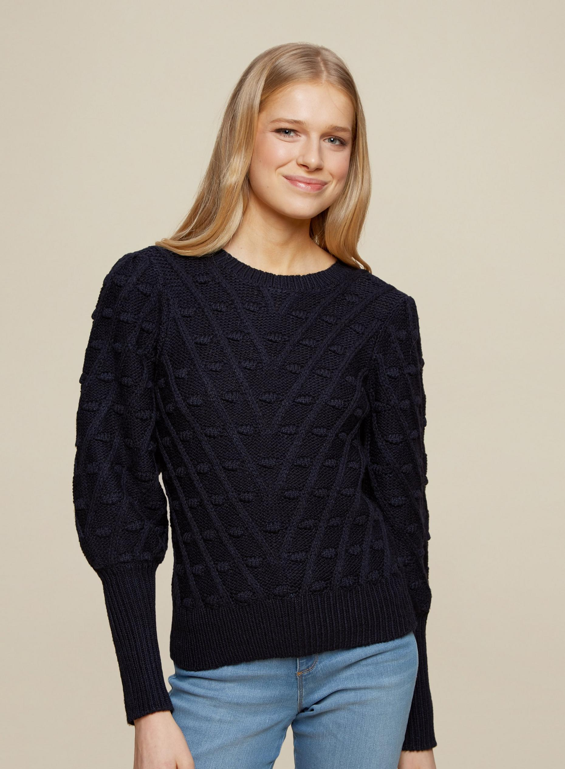 Navy Bobble Jumper