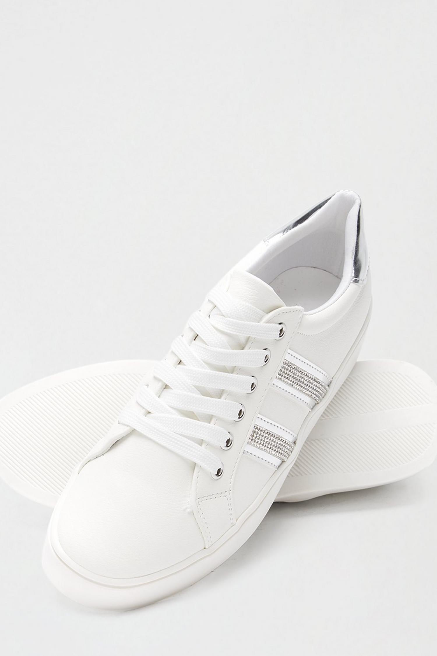 579 Silver Impact Side Stripe Trainer image number 3