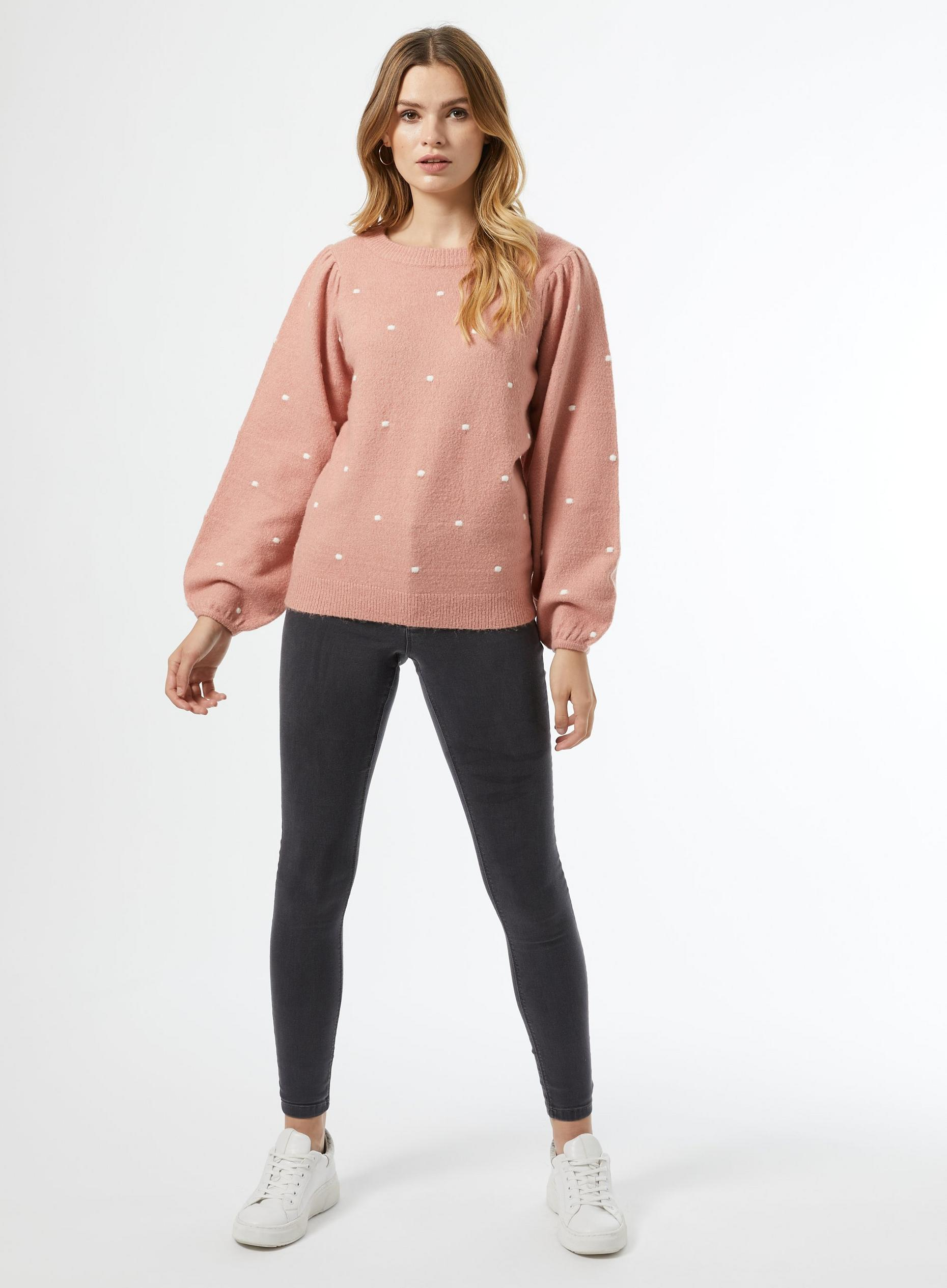 Blush All Over Bobble Jumper