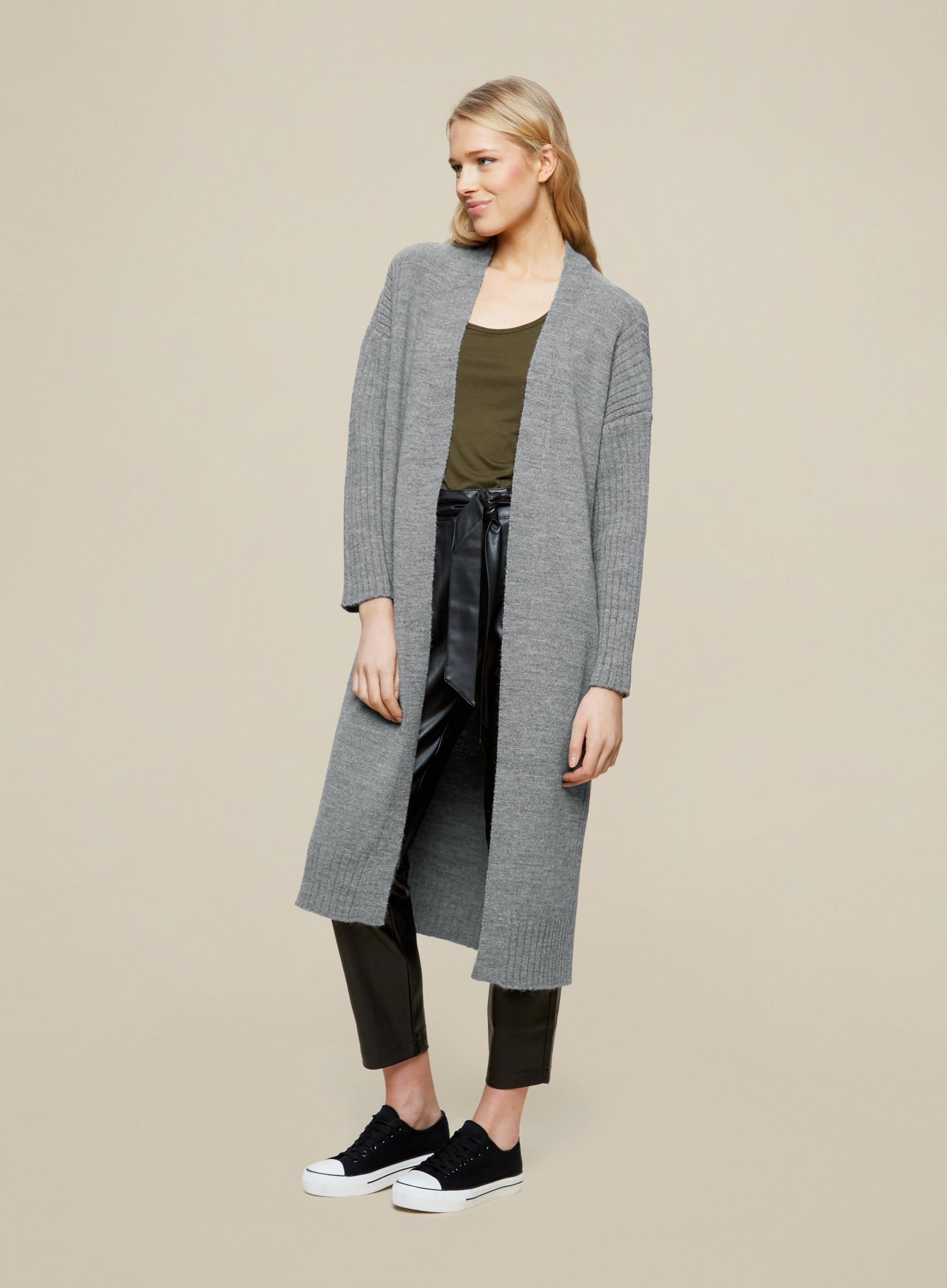 Light Grey Maxi Cardigan