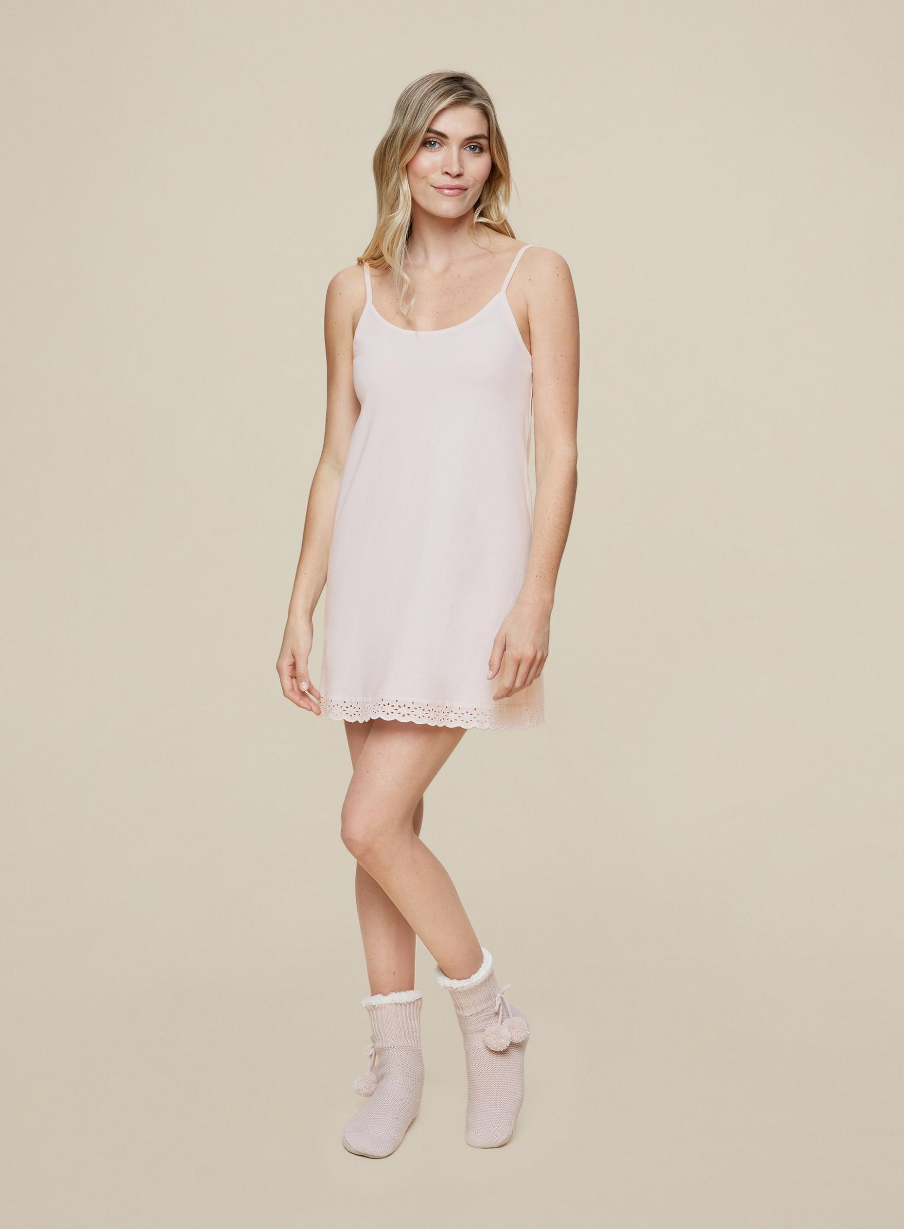Blush Broderie Trim Night Dress