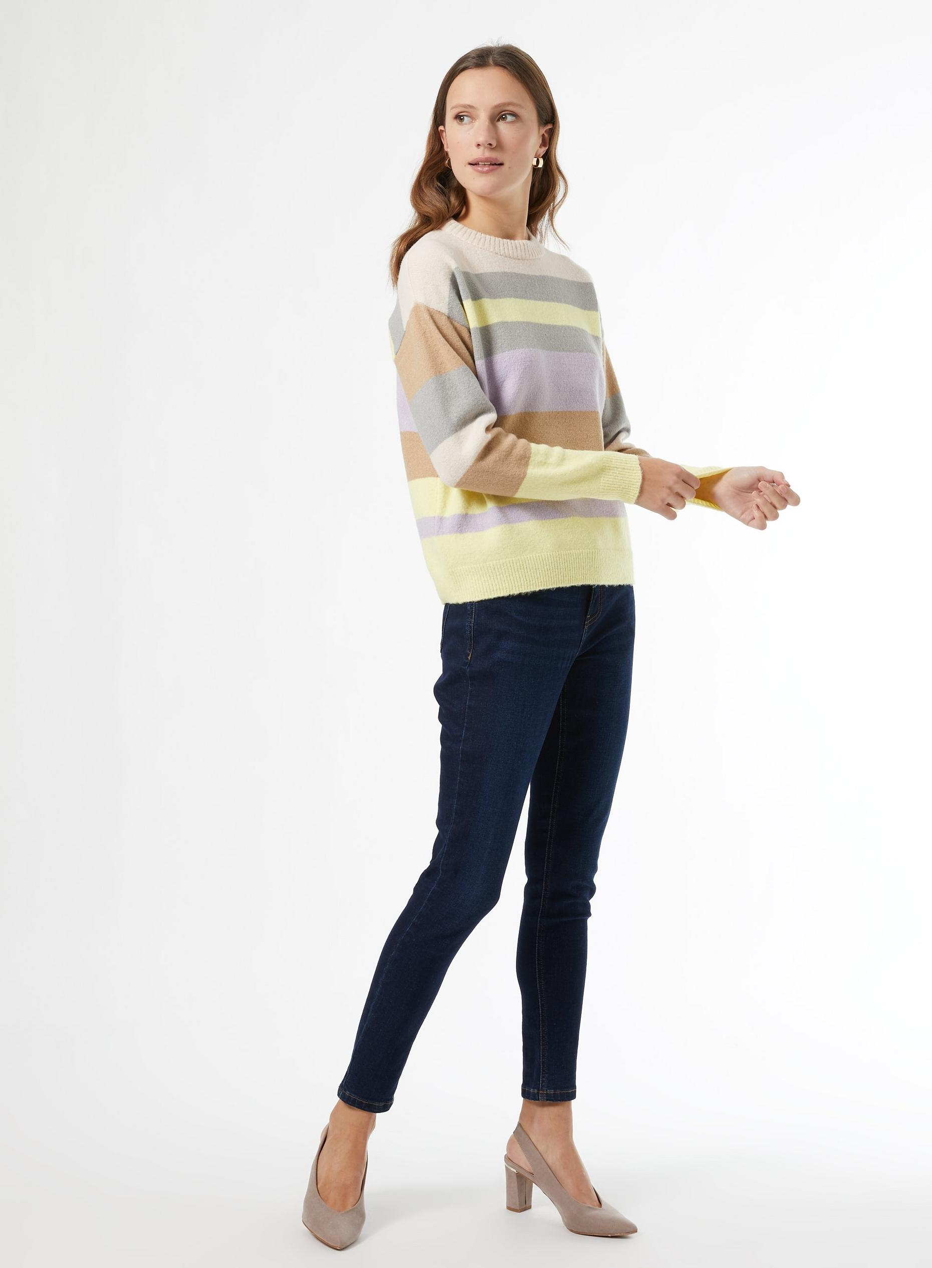 Pink Lemon Stripe Print Jumper