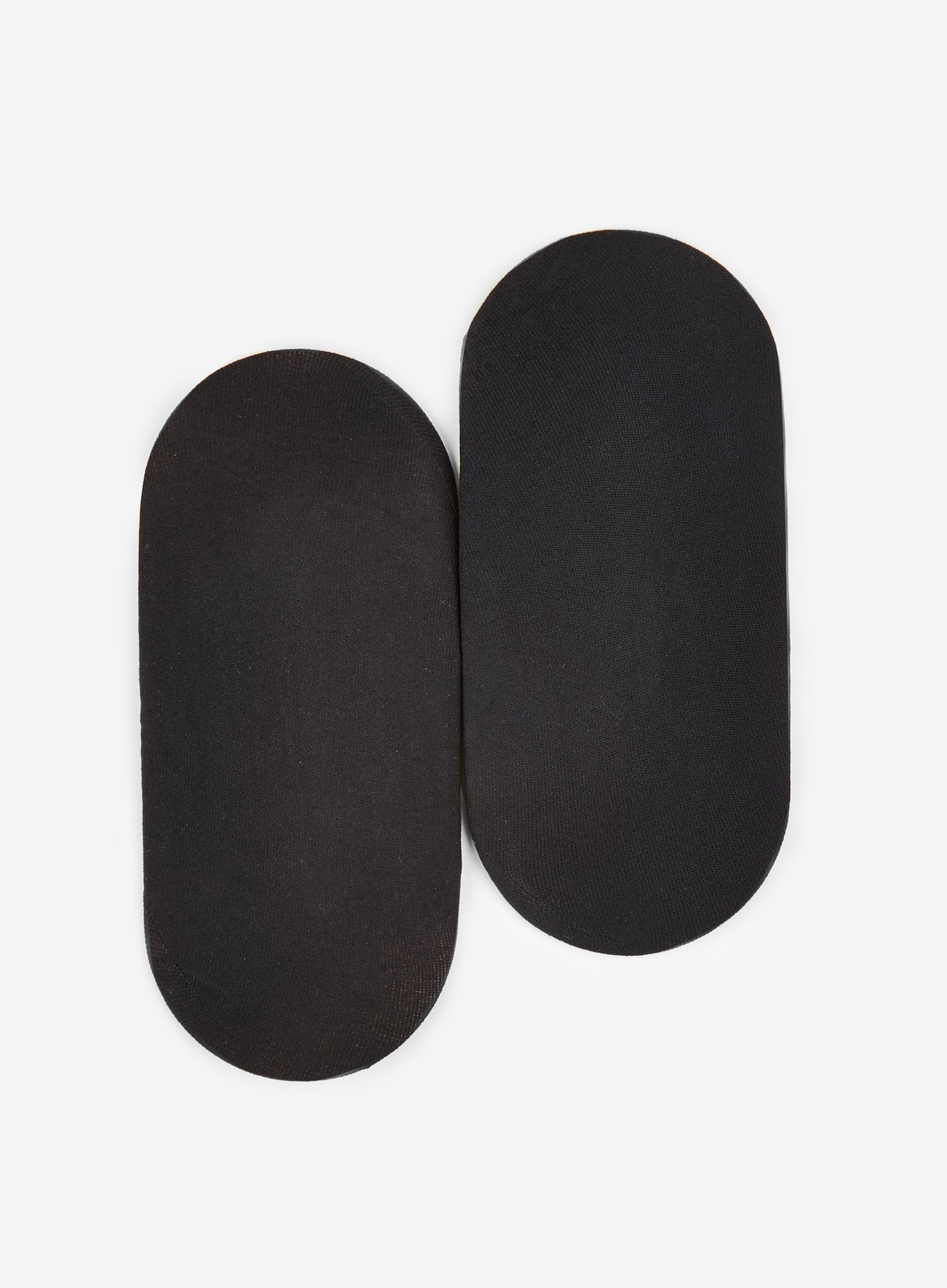 Black 2 Pack Sheer Footsies