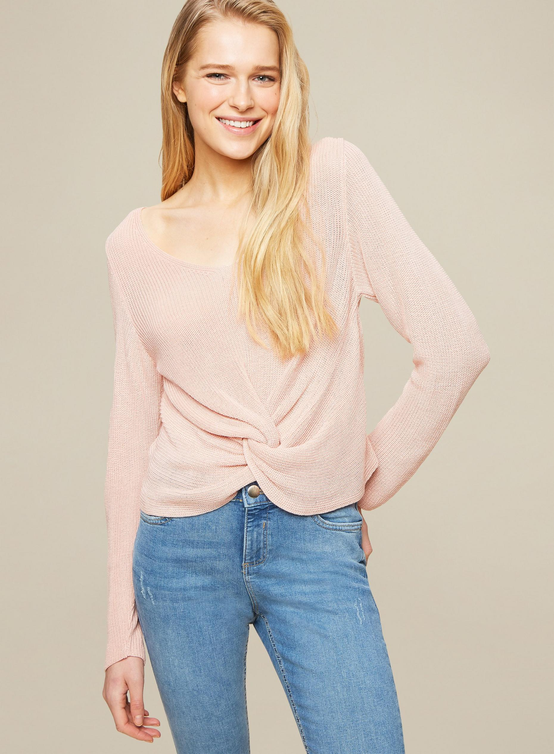 Blush Twist Front Jumper