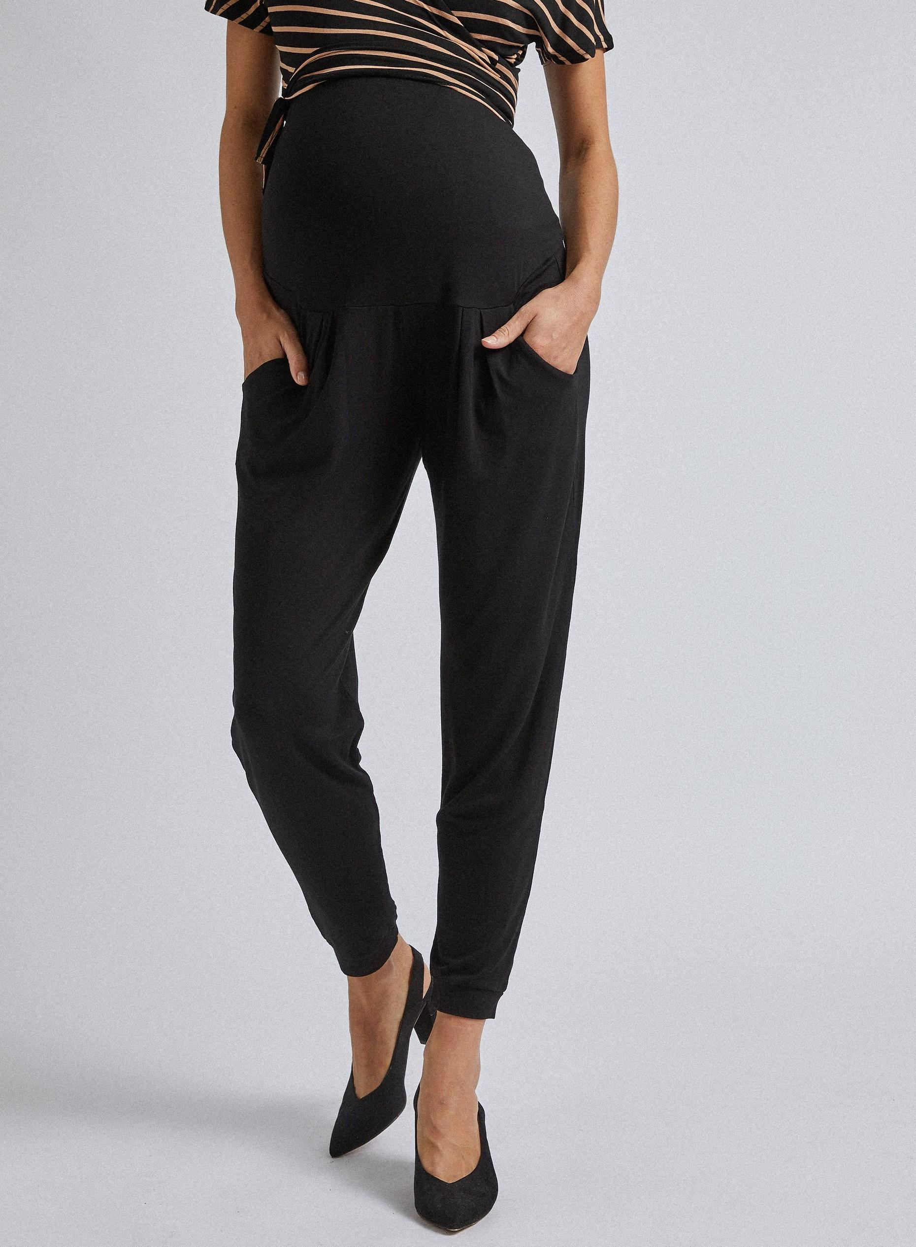 Maternity Black Over Bump Jumper