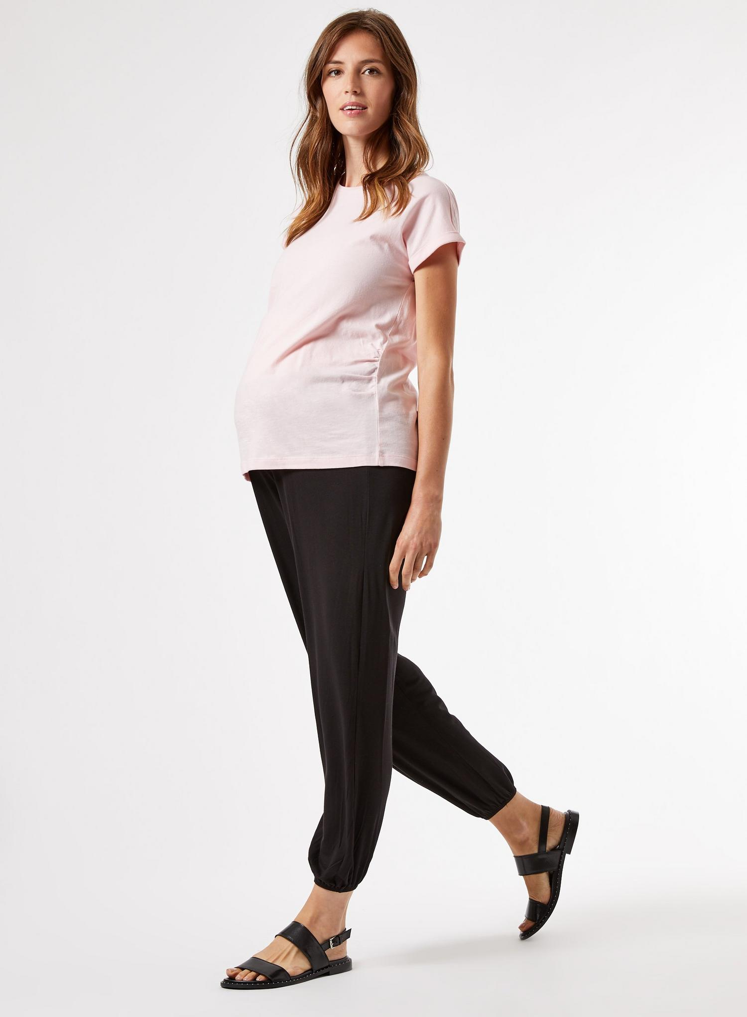 105 Maternity Black Joggers image number 4