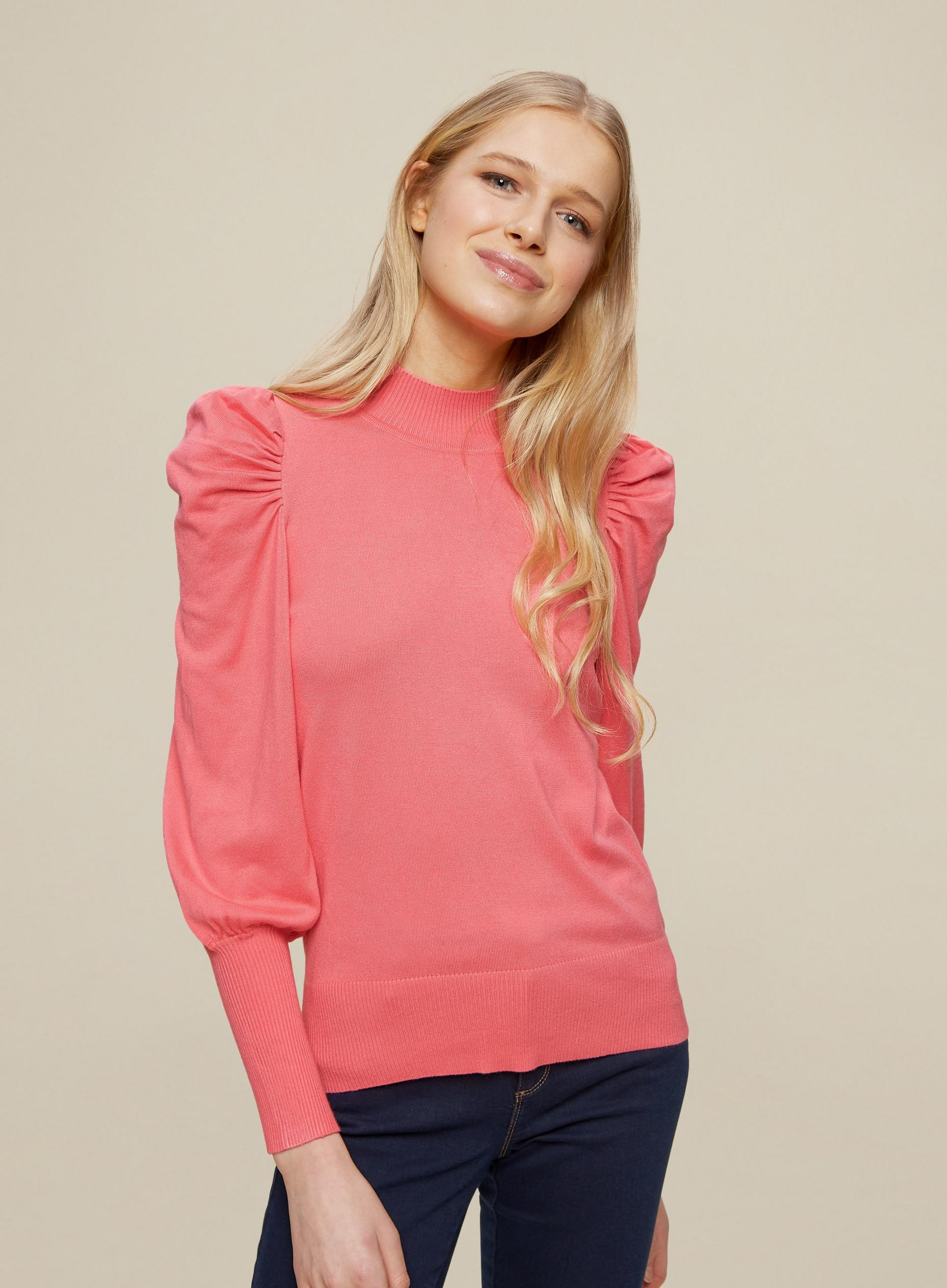 Pink Volume Sleeve Jumper