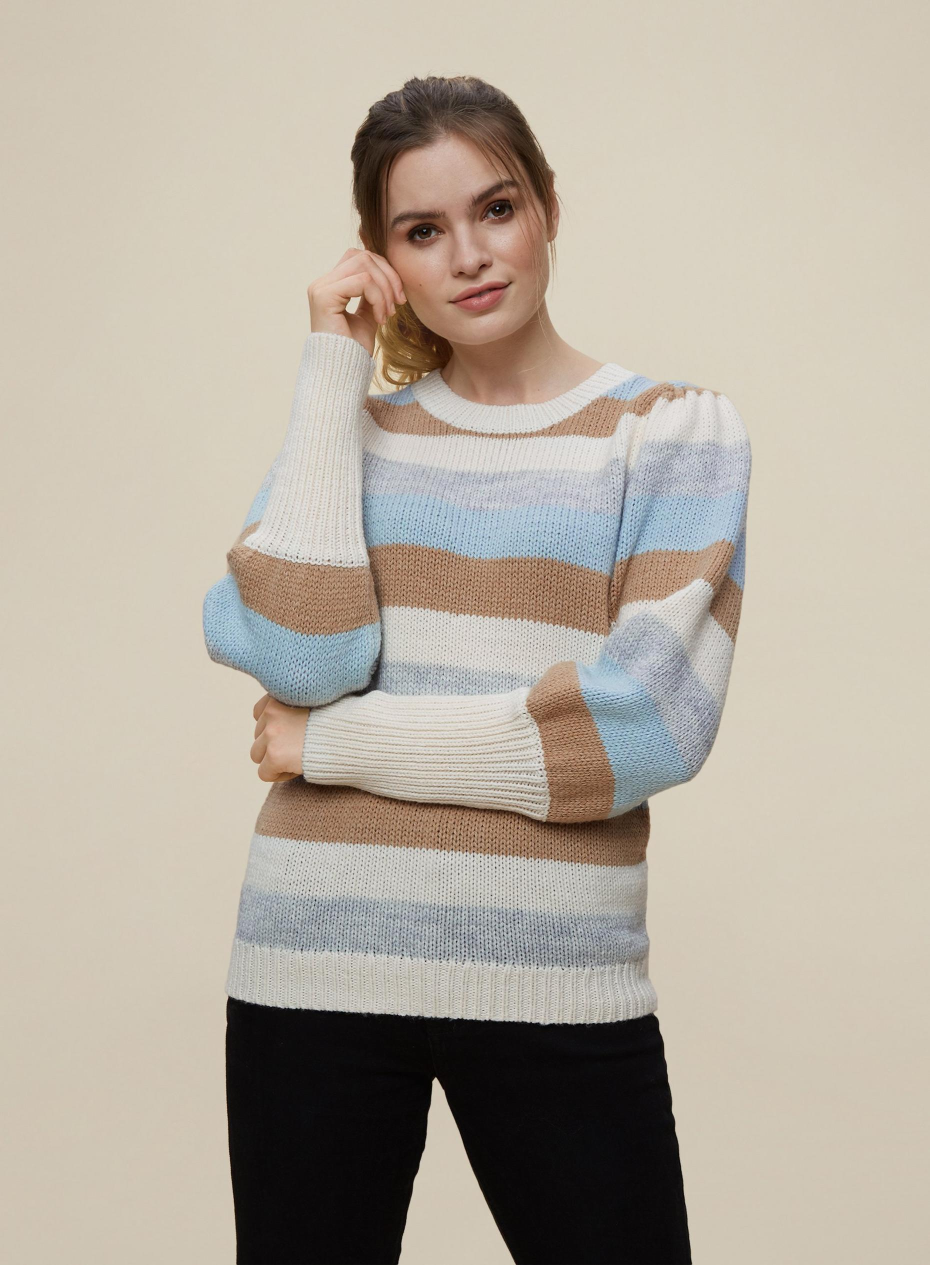 Multi Coloured Striped Jumper