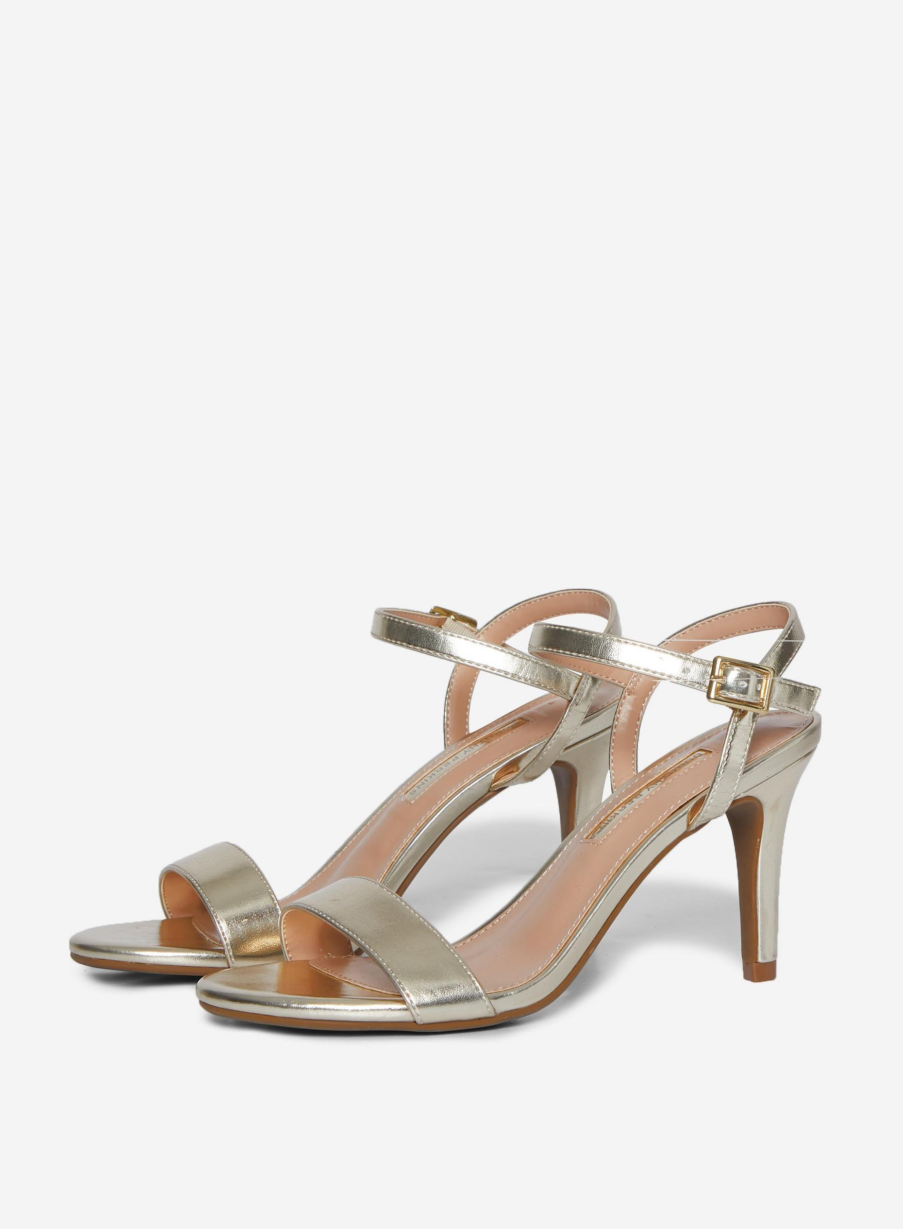 Gold Sizzle Heeled Sandals