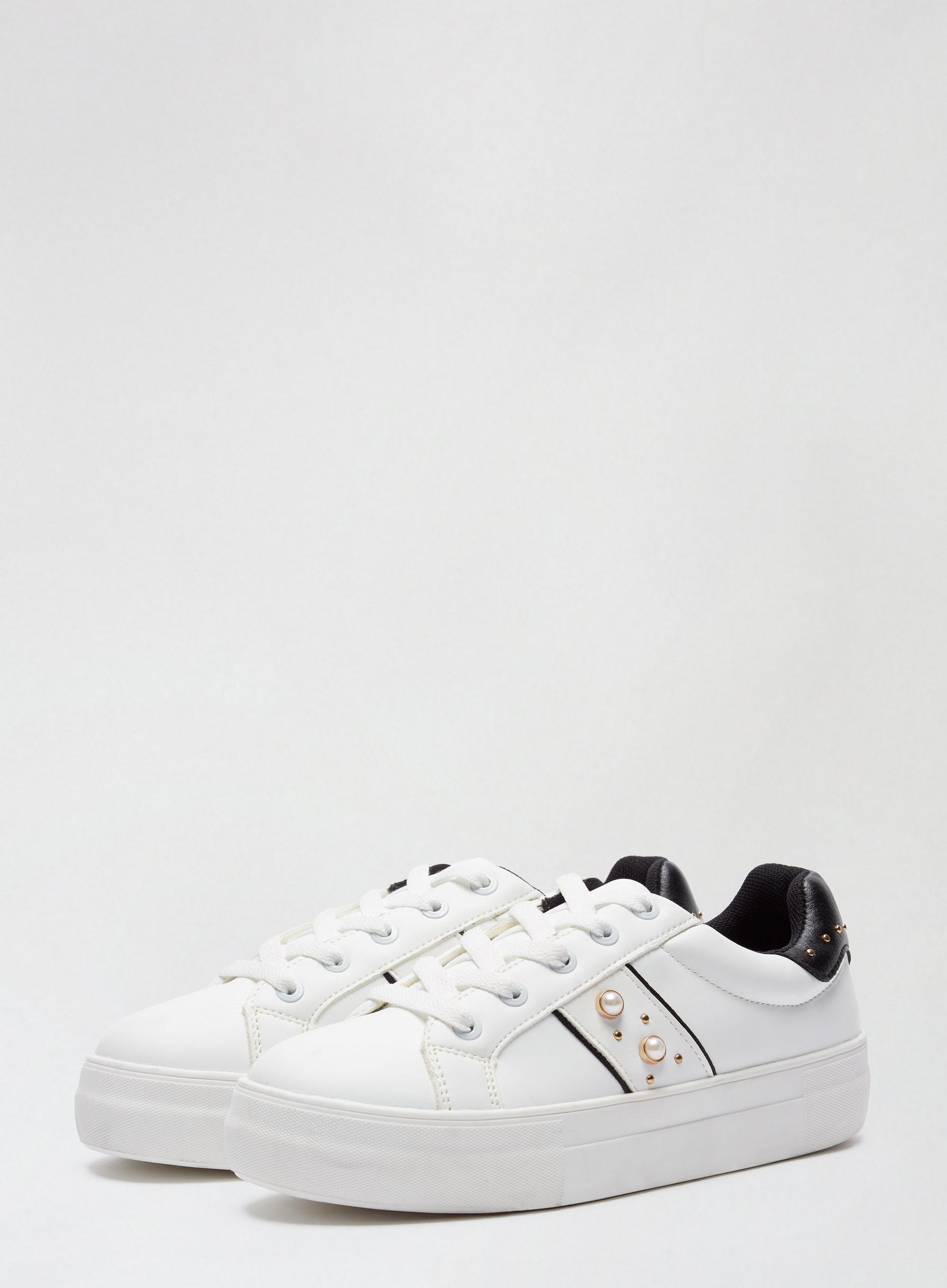 White Itsy Pearl Trainers
