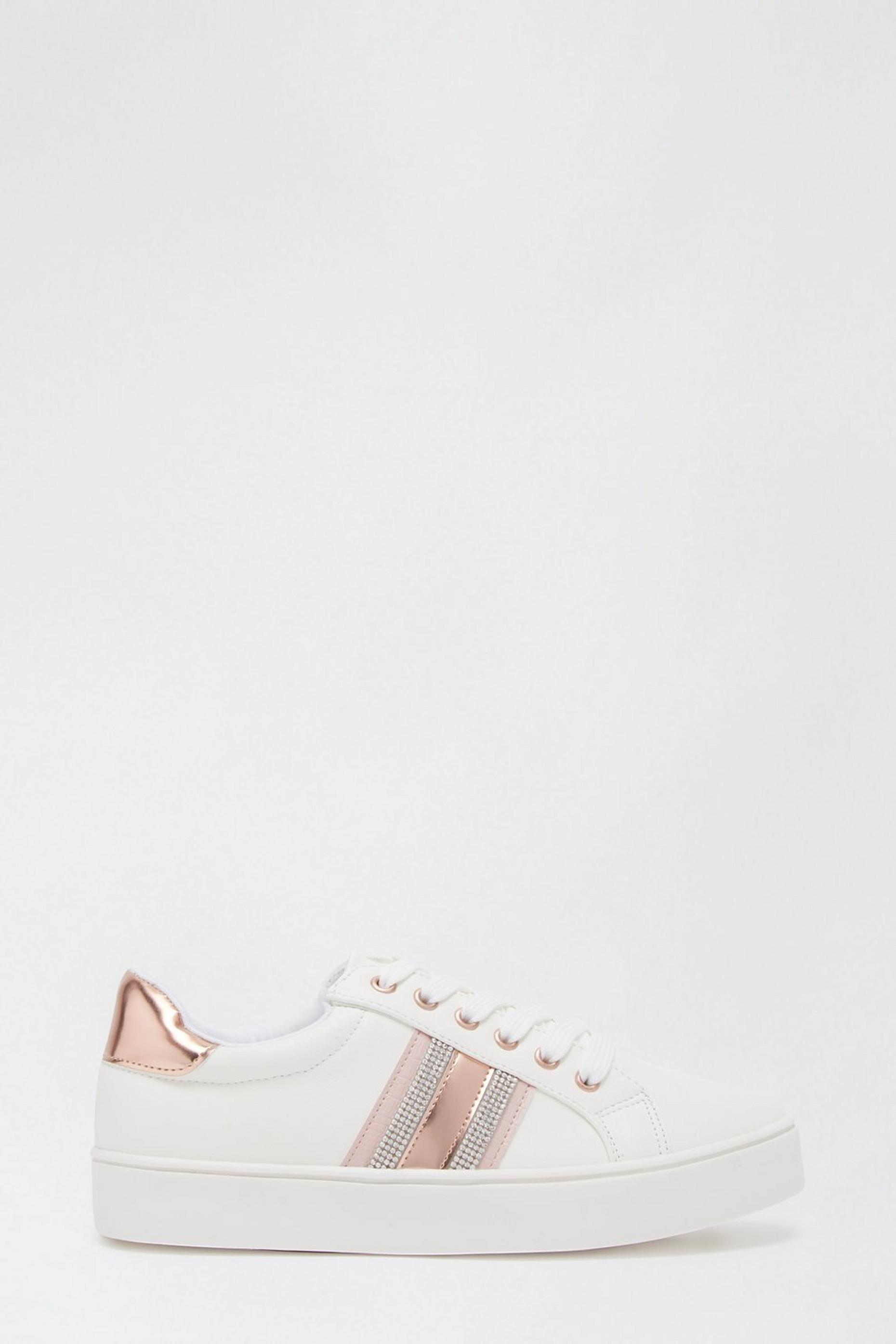 Rosegold Impact Stripe Trainers
