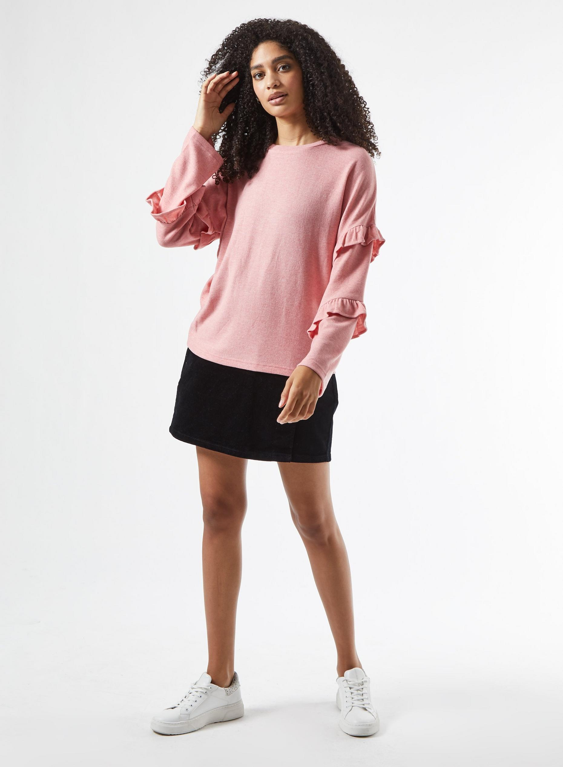 Pink Soft Touch Ruffle Top