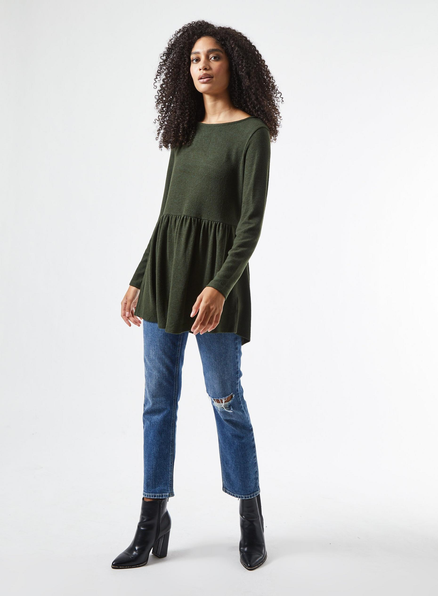 Khaki Soft Touch Tunic