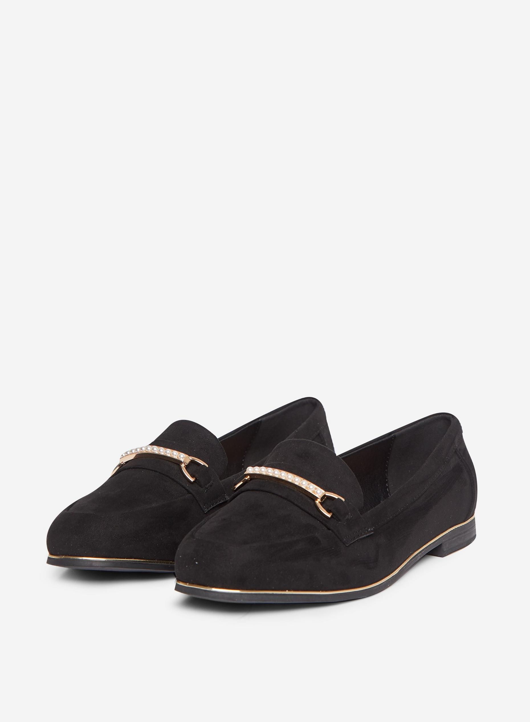 Wide Fit Black Leila Loafers