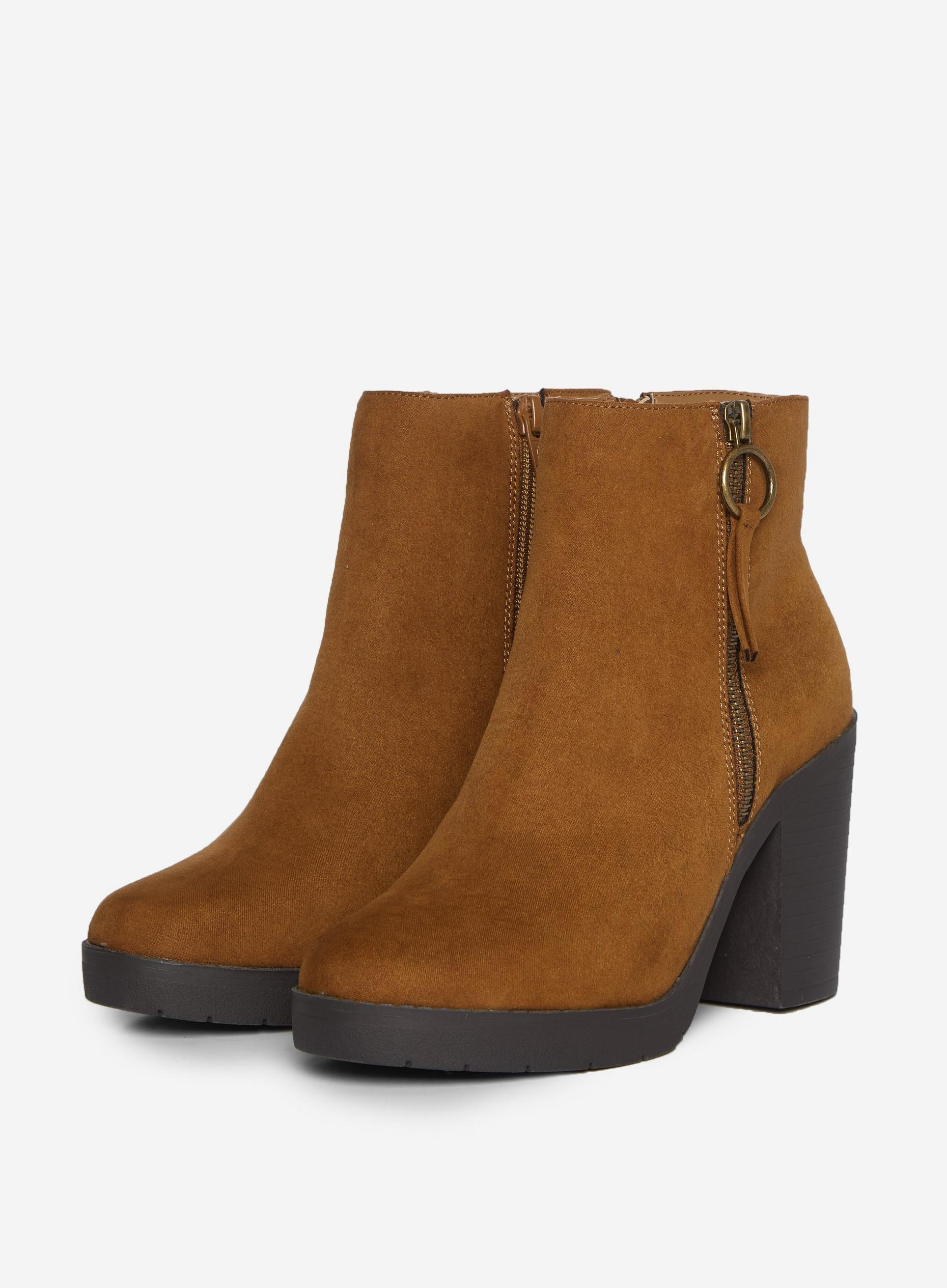 Wide Fit Tan Abby Chunky Boots