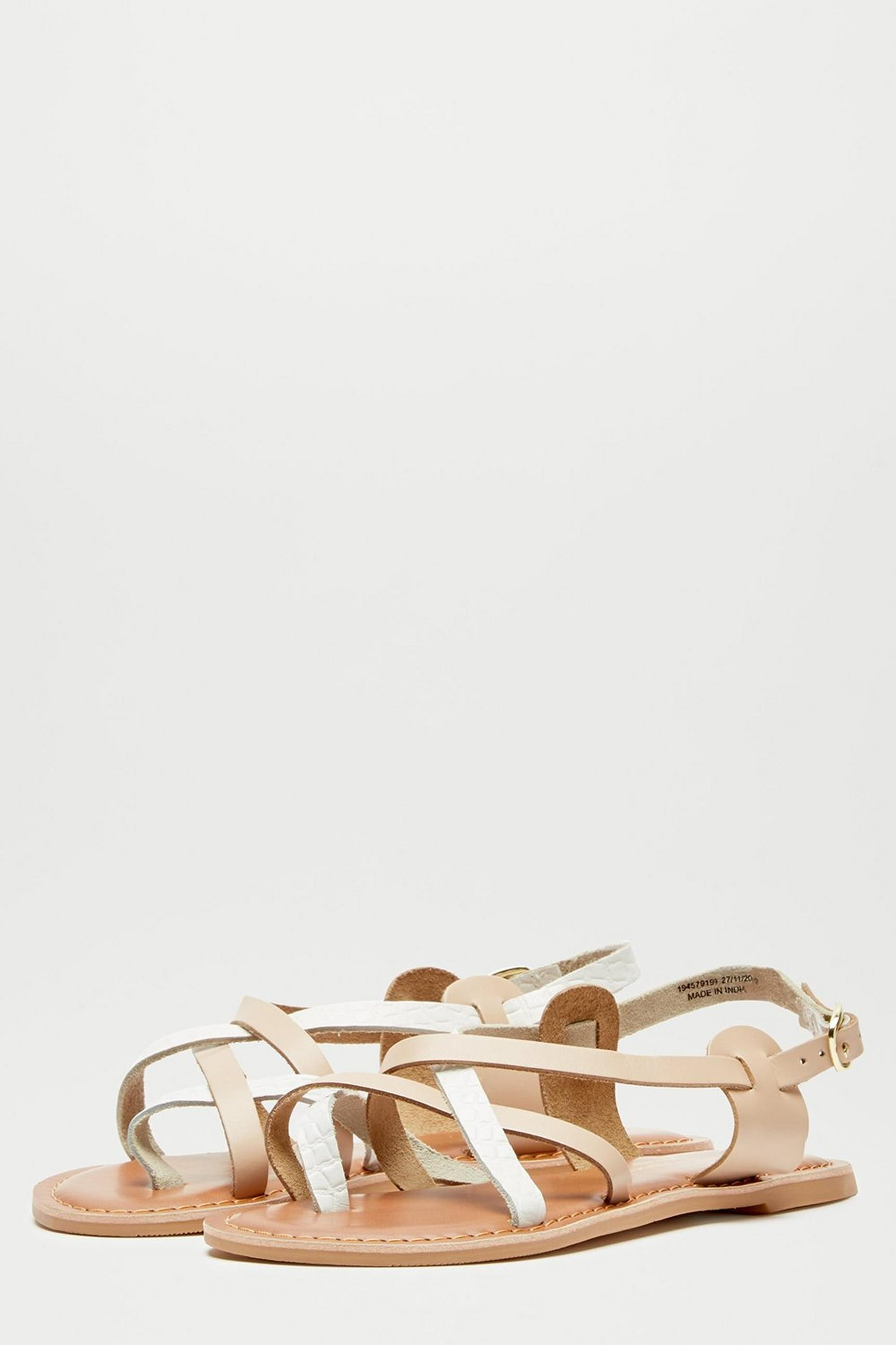 White Jamie Leather Sandals