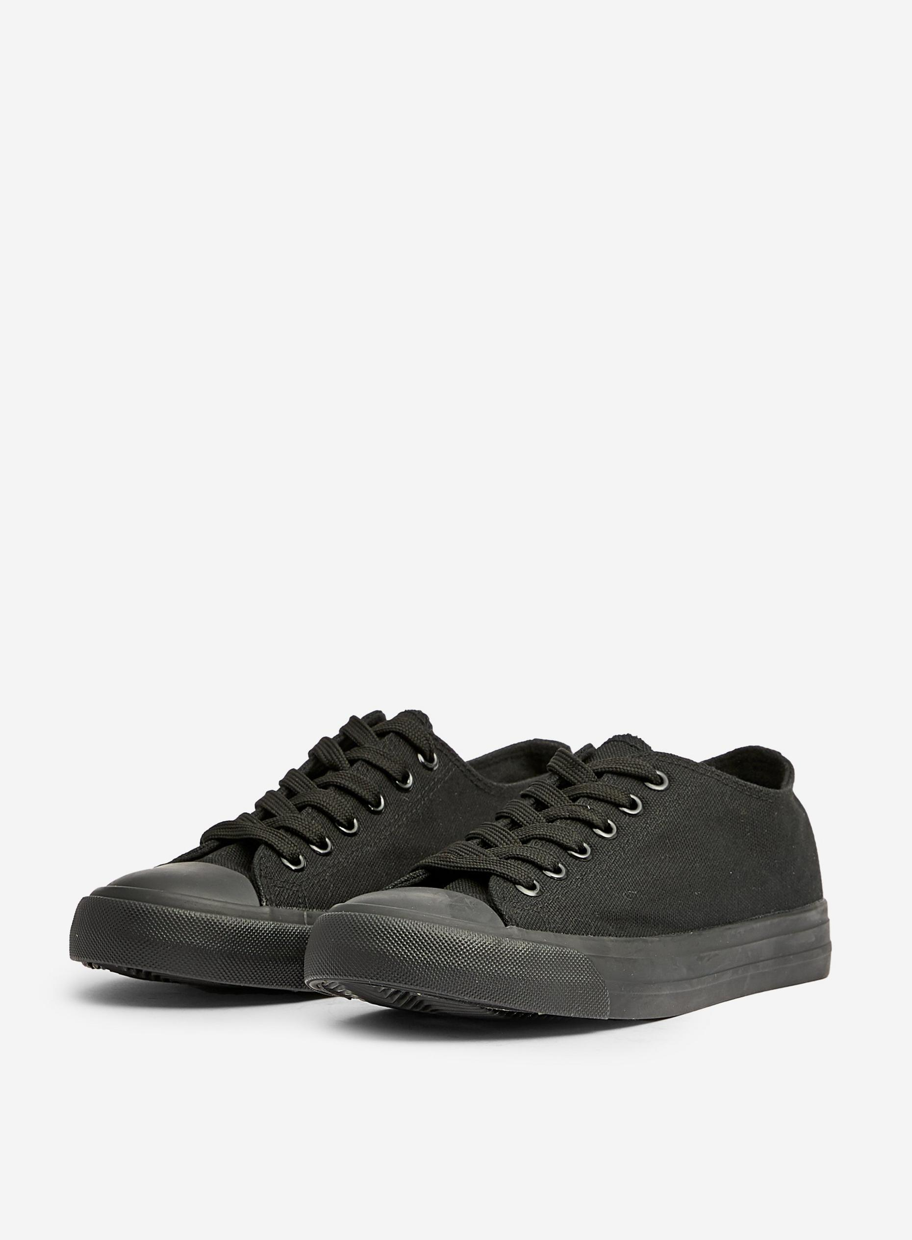 Black Icon Canvas Trainers