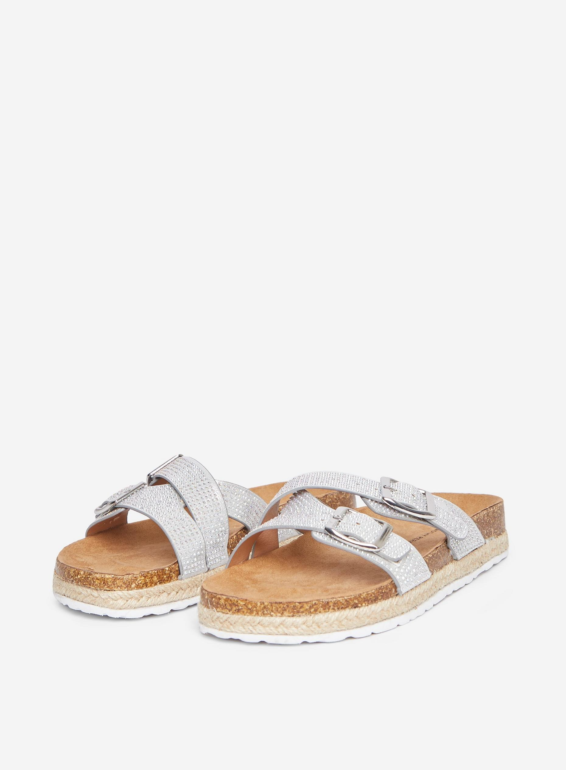 Silver Foxy Footbed Sandals