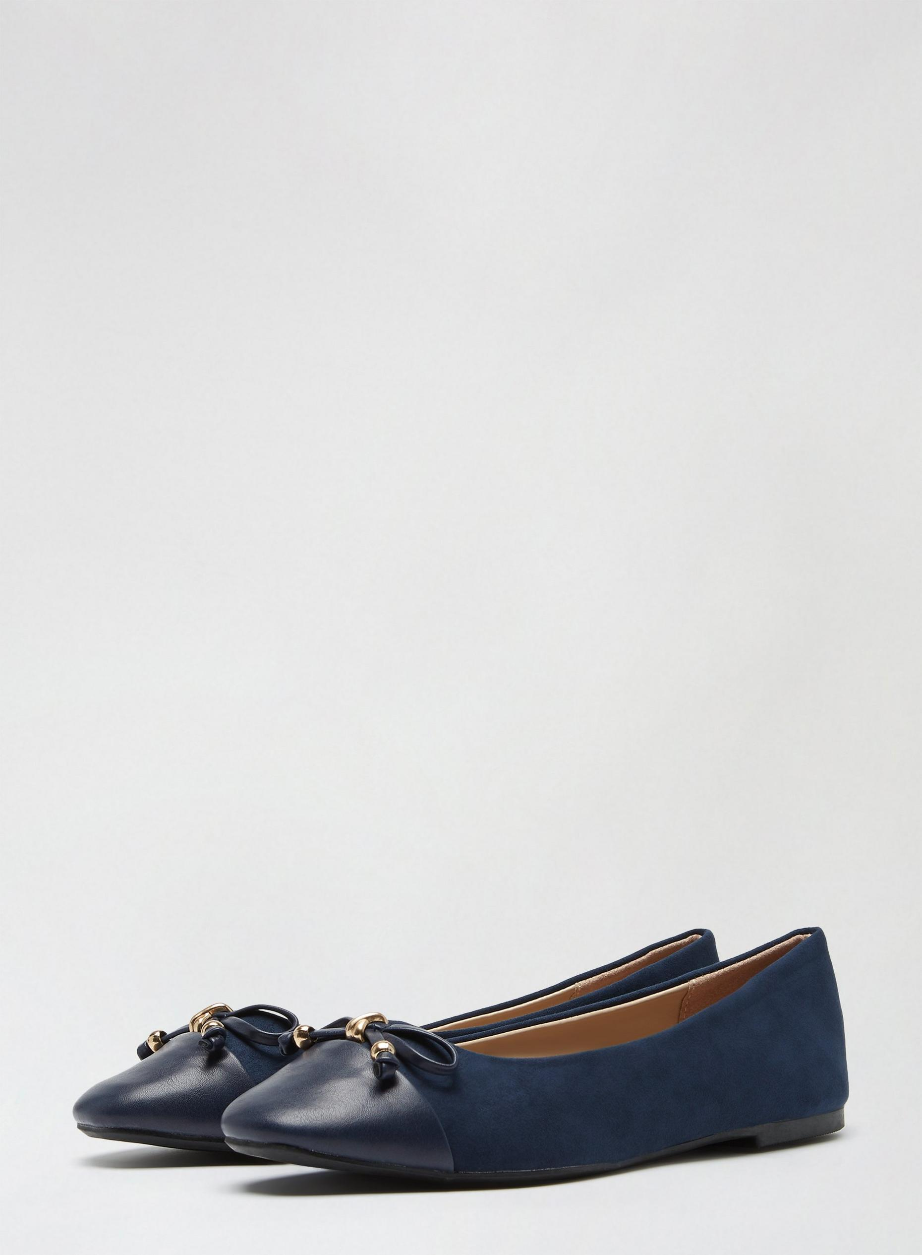 Navy Peanut Ballerina Pumps