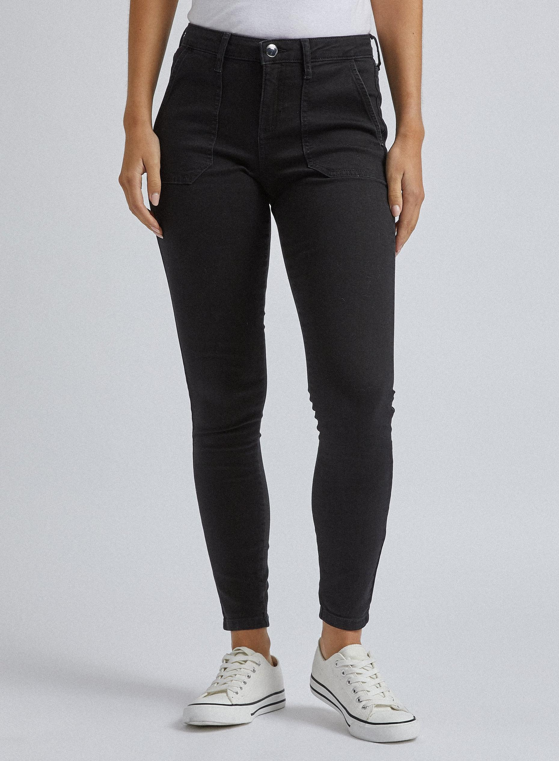 Black Denim Utility Darcy Jeans