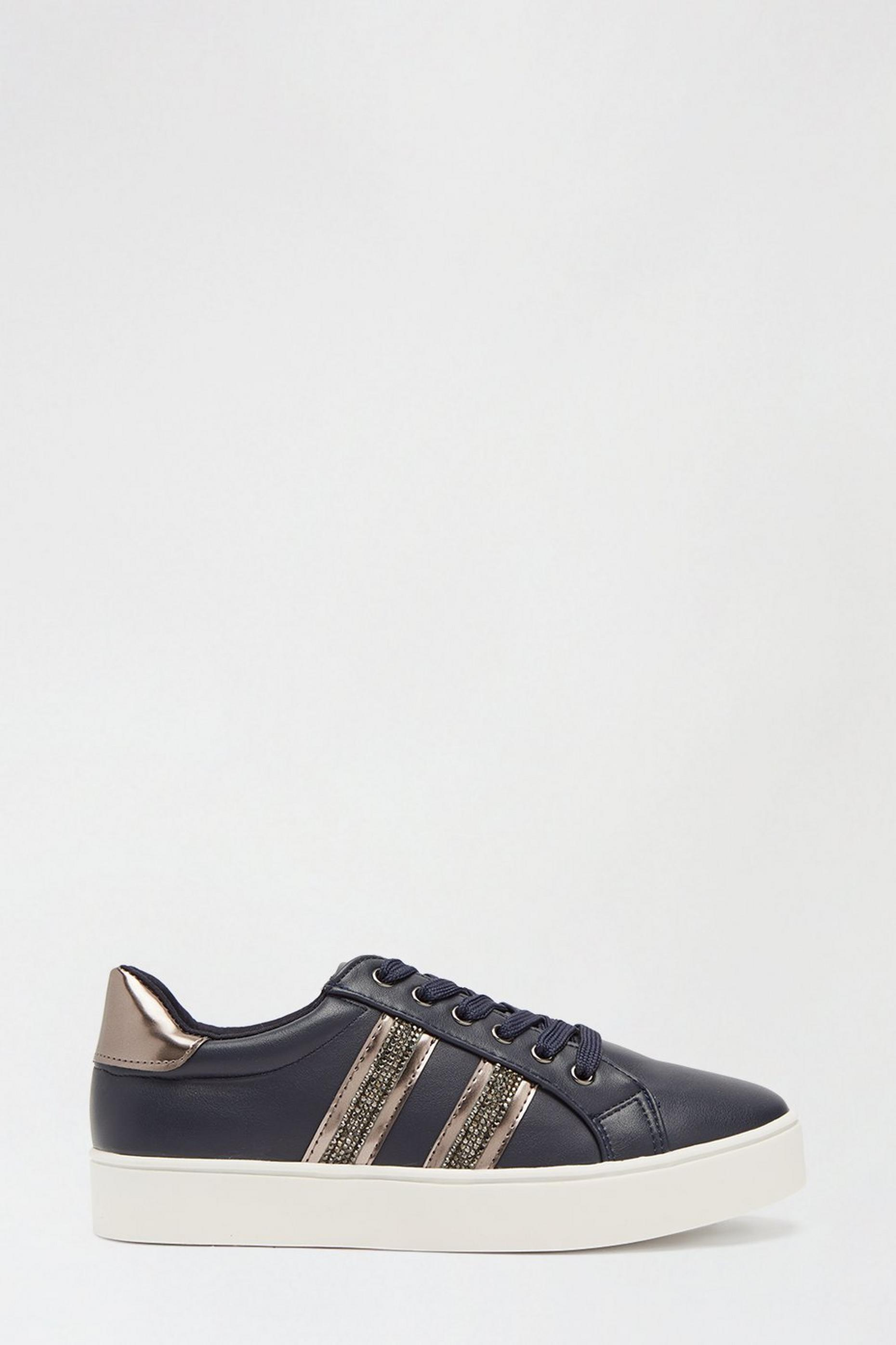 Navy Impact Side Stripe Trainer