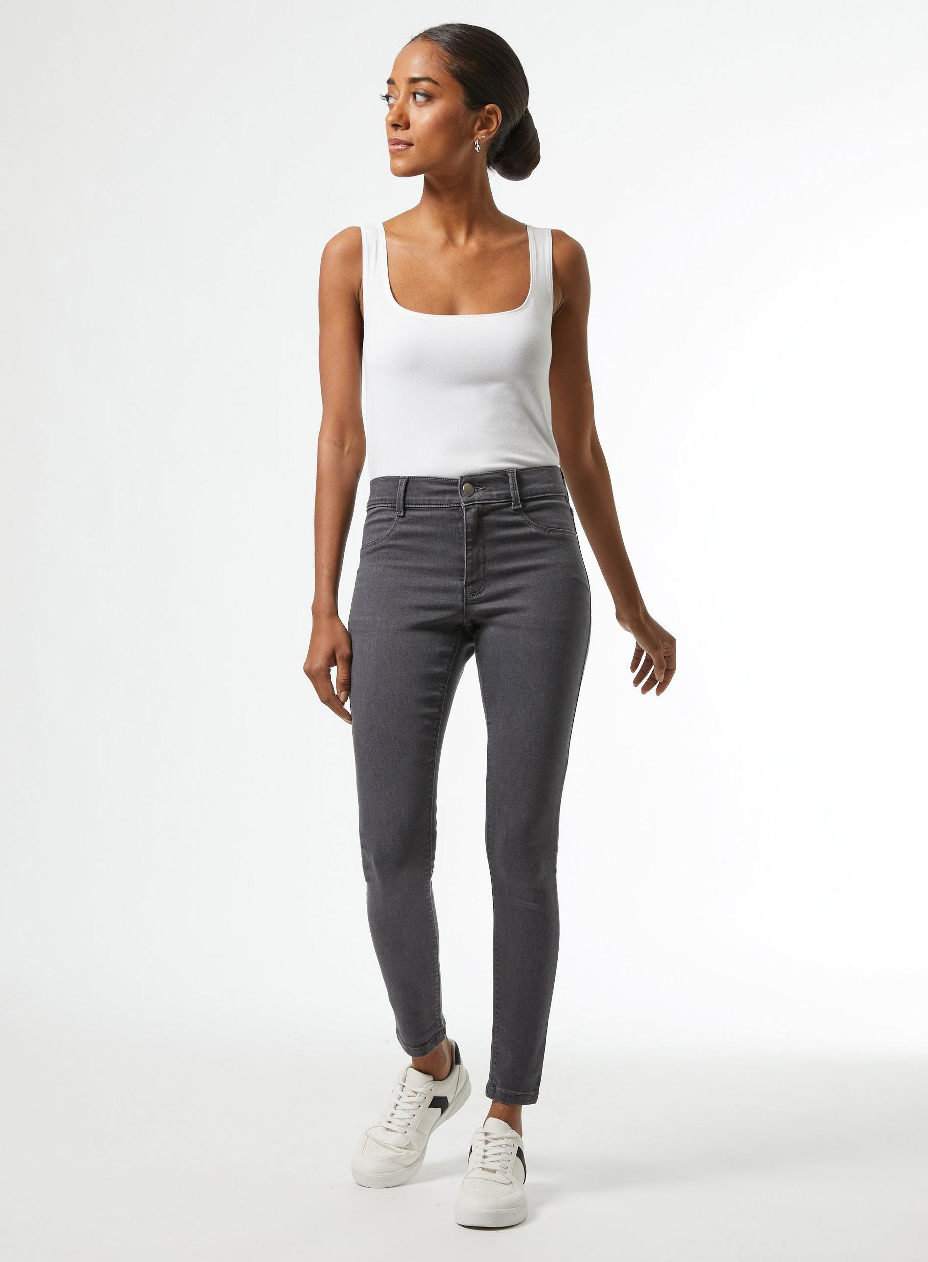Petite Charcoal Grey Frankie Denim Jeans
