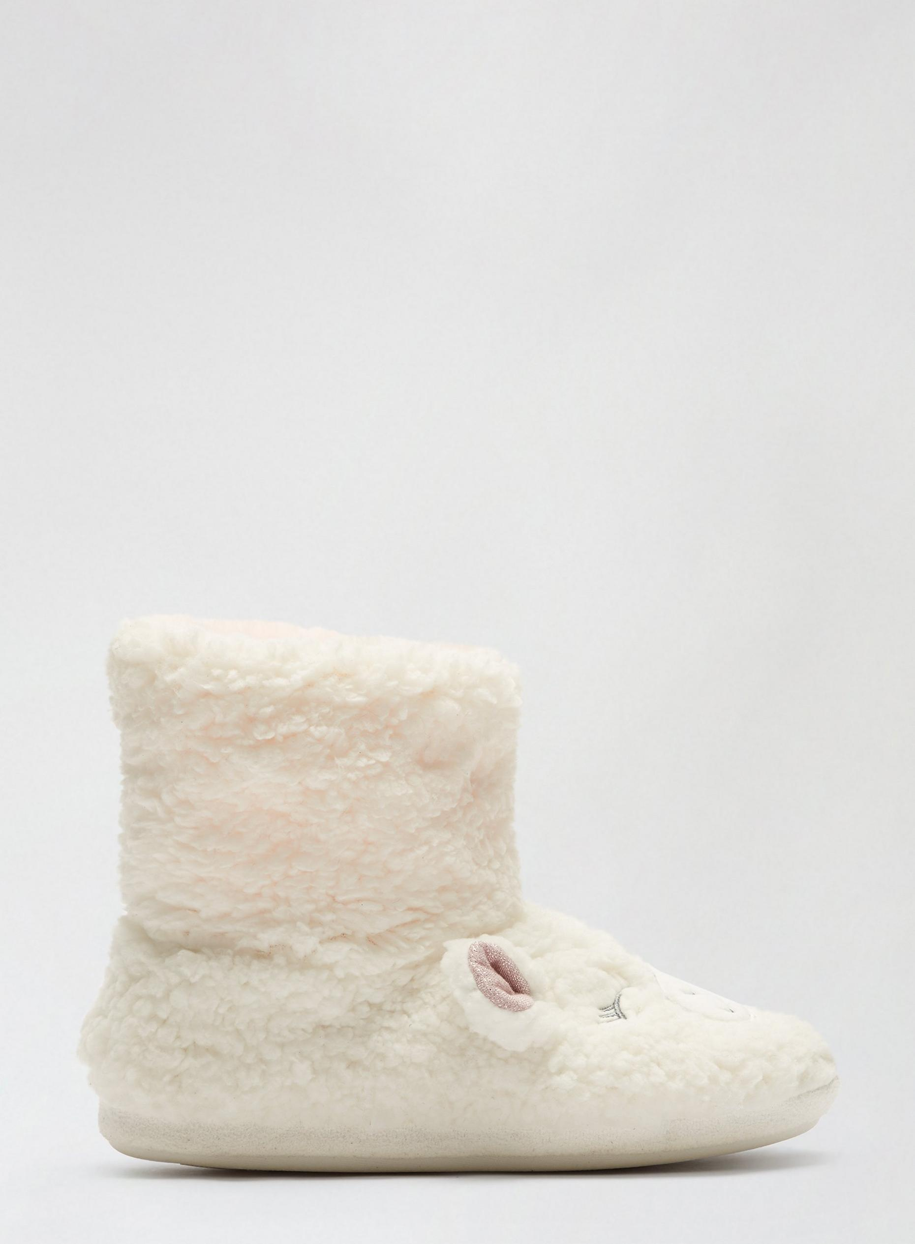 White Novelty Lamb Boots
