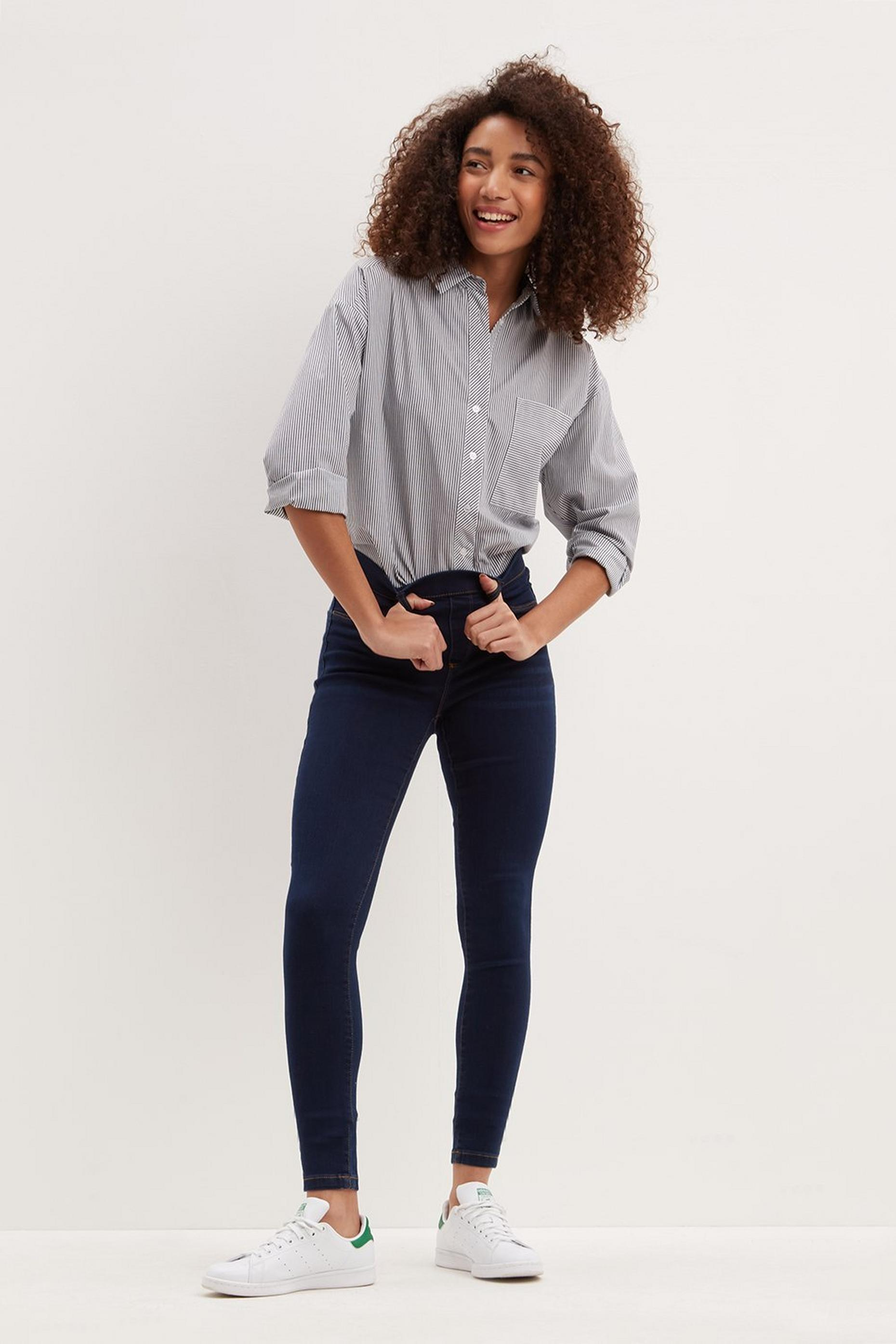 Organic Blue Black Long Eden Jeggings
