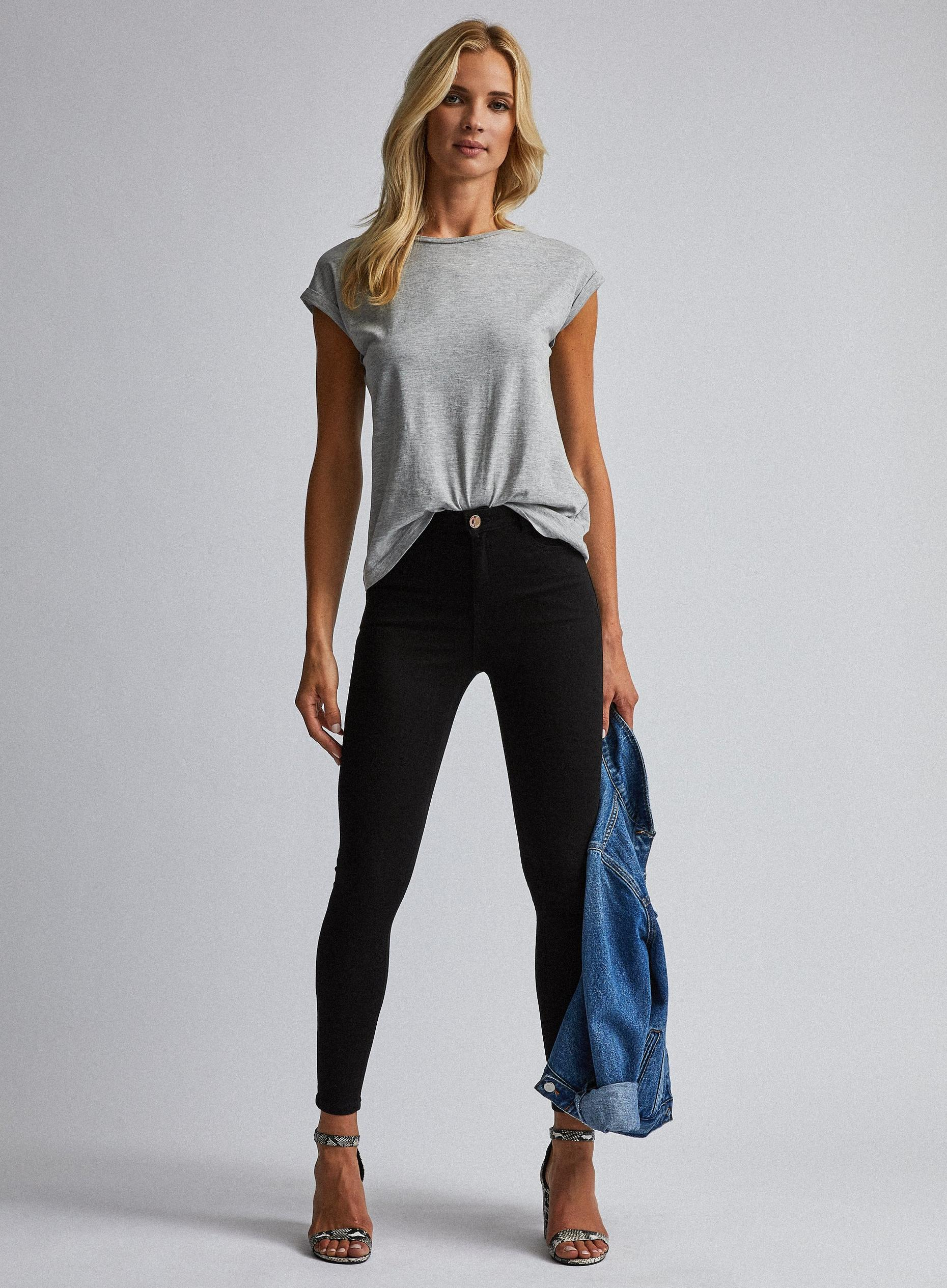 Black Short Shape and Lift Denim Jeans