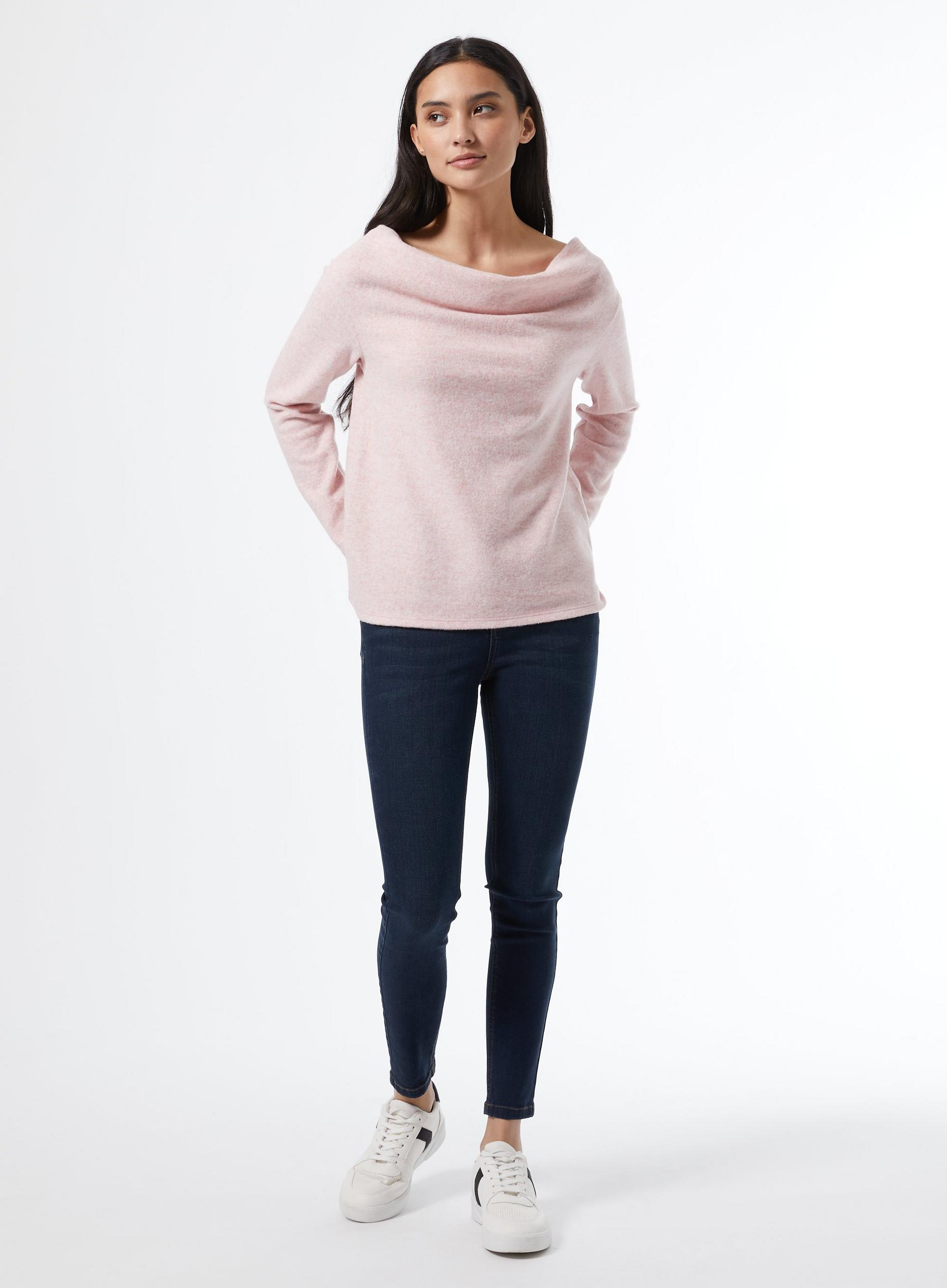 Petite Blush Cowl Neck Jumper
