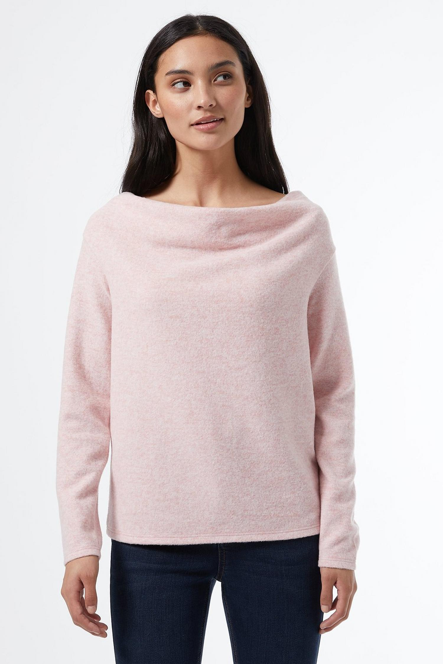 153 Petite Blush Cowl Neck Jumper image number 3