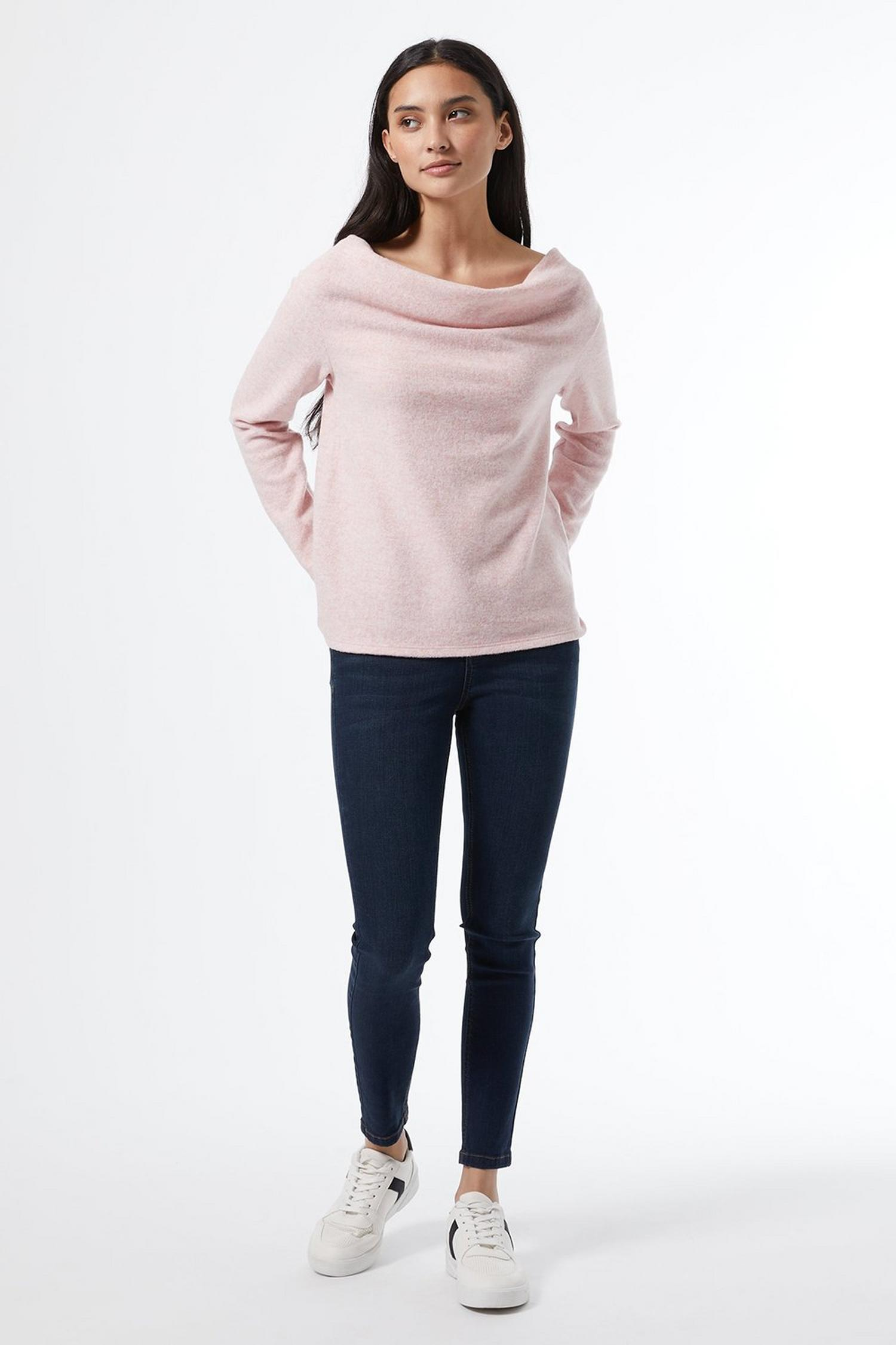 153 Petite Blush Cowl Neck Jumper image number 4