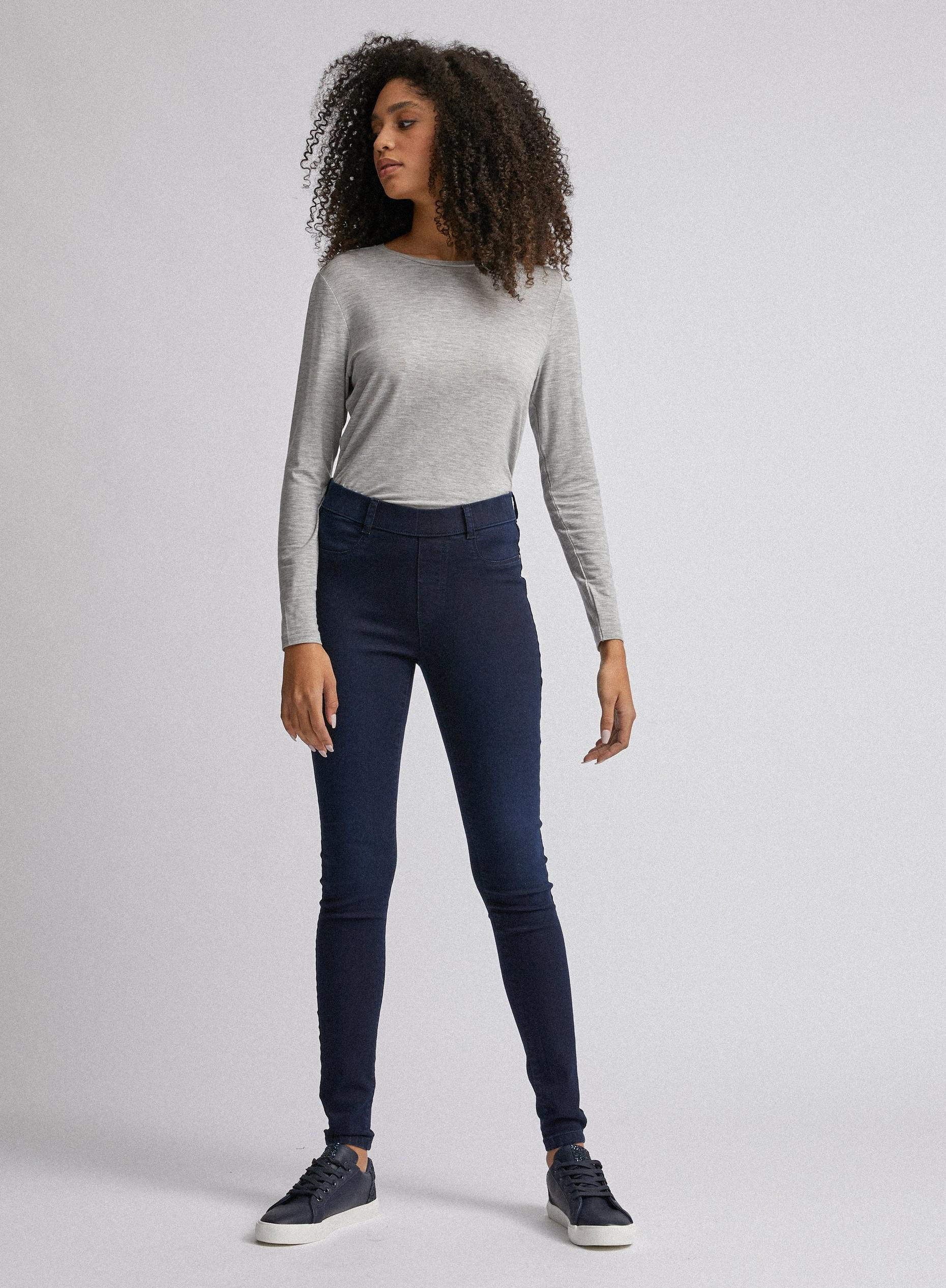 Organic Blue Black Short Eden Jeggings