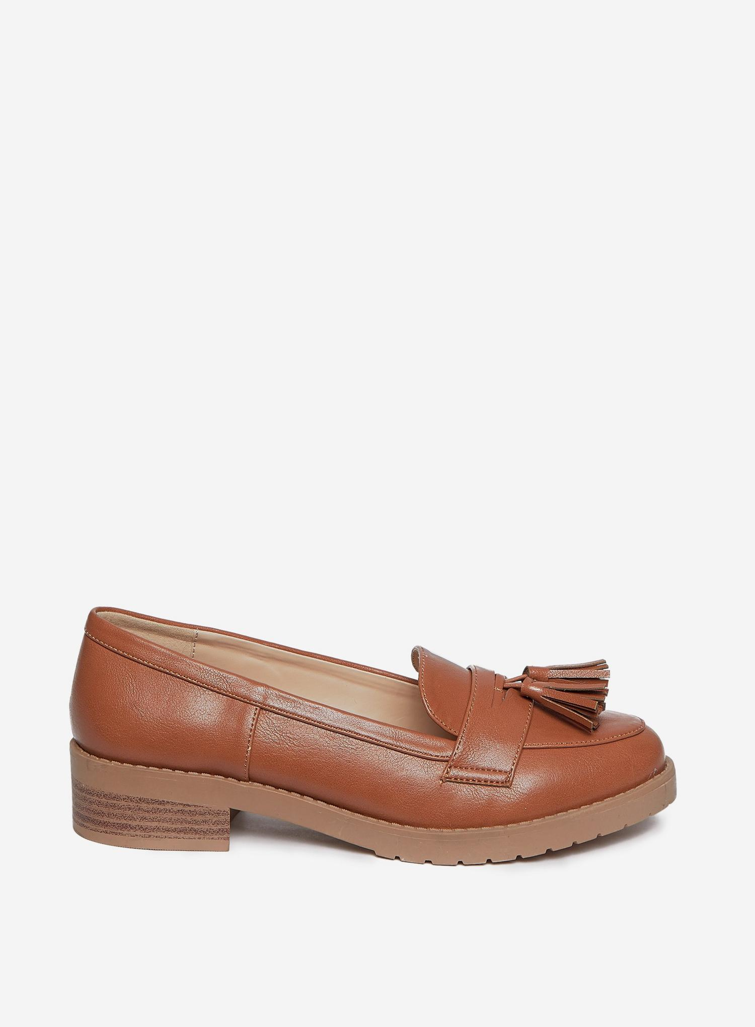 109 Wide Fit Tan Litty Loafers image number 2