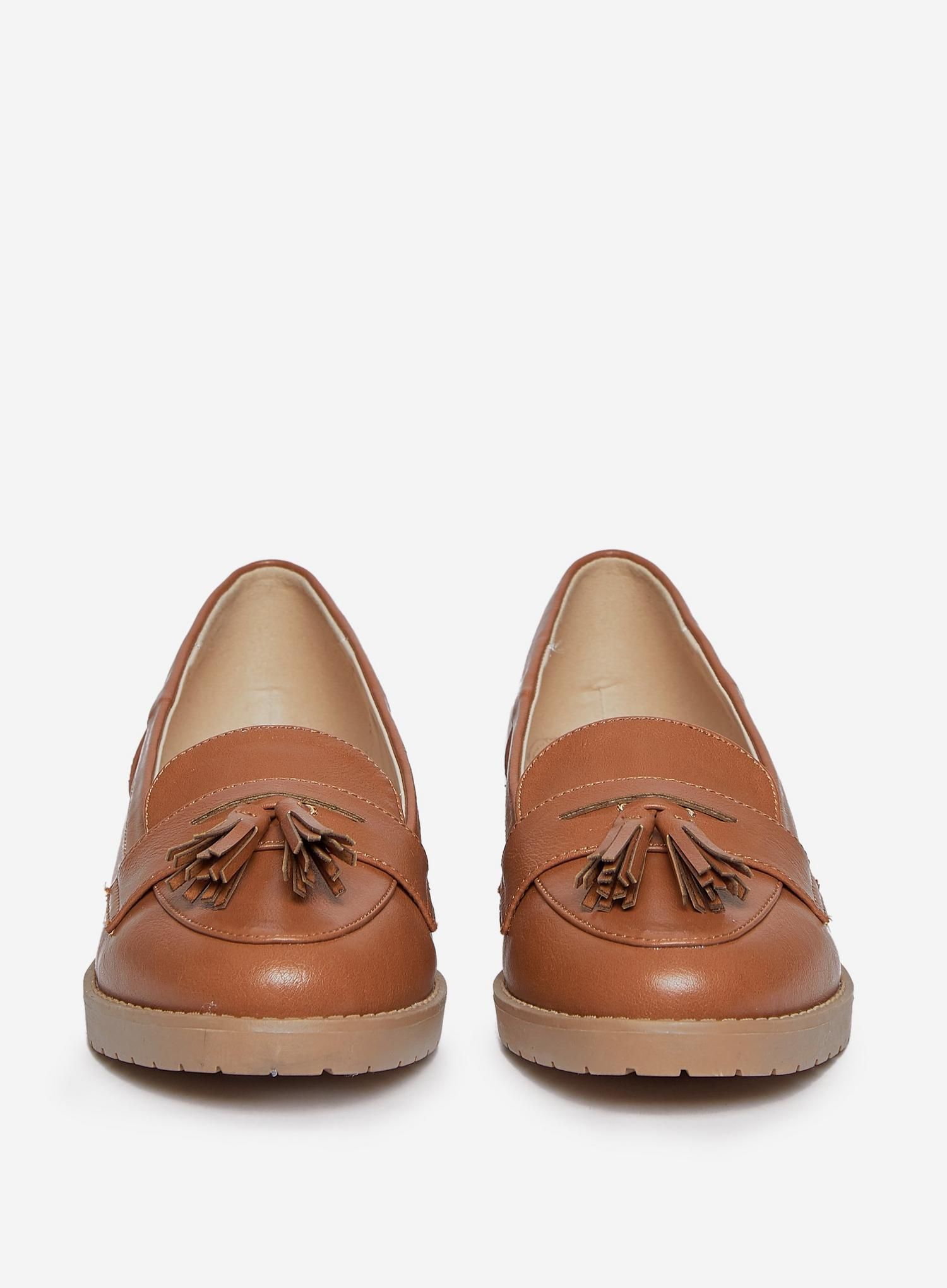 109 Wide Fit Tan Litty Loafers image number 3