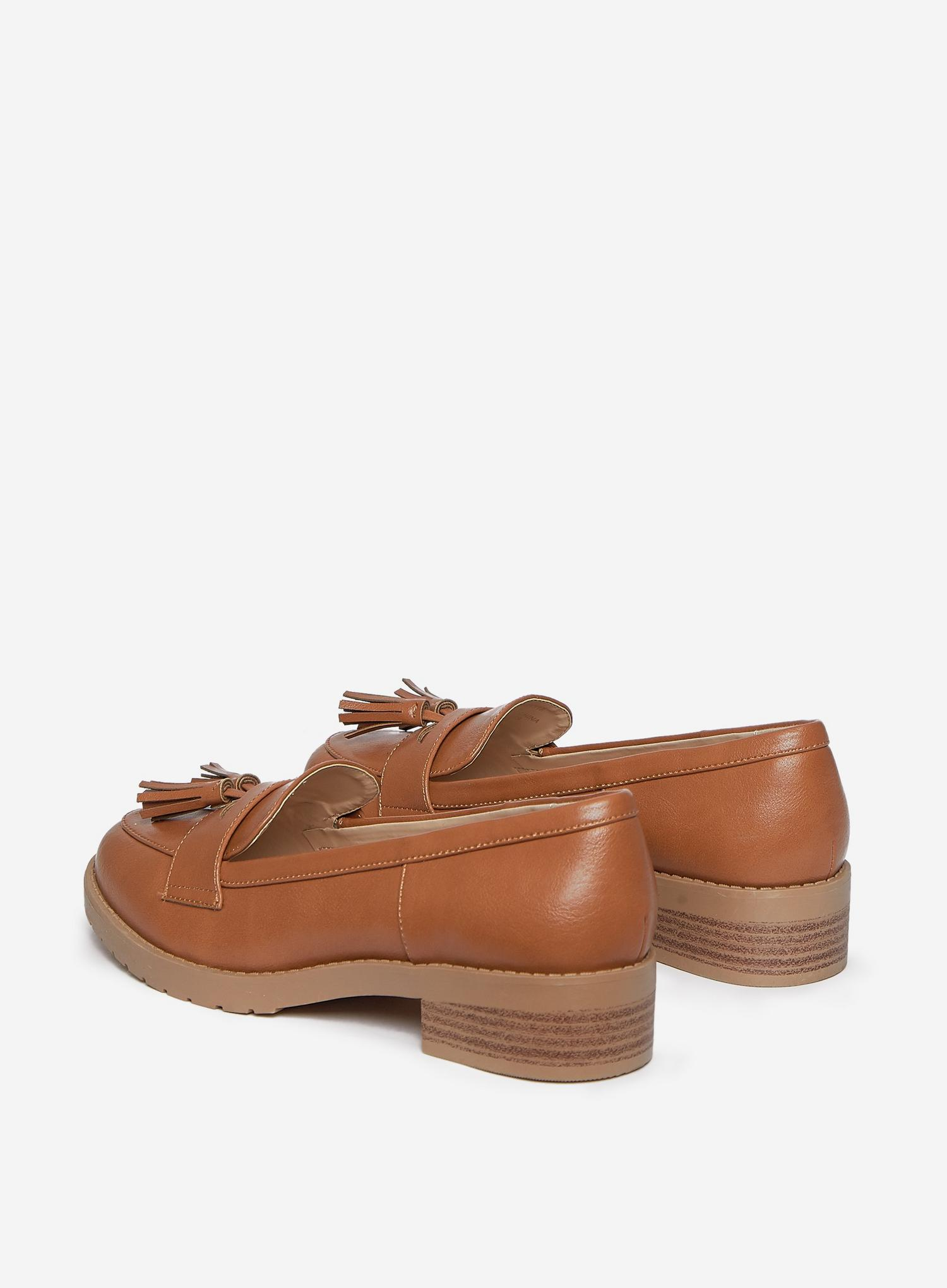 109 Wide Fit Tan Litty Loafers image number 4