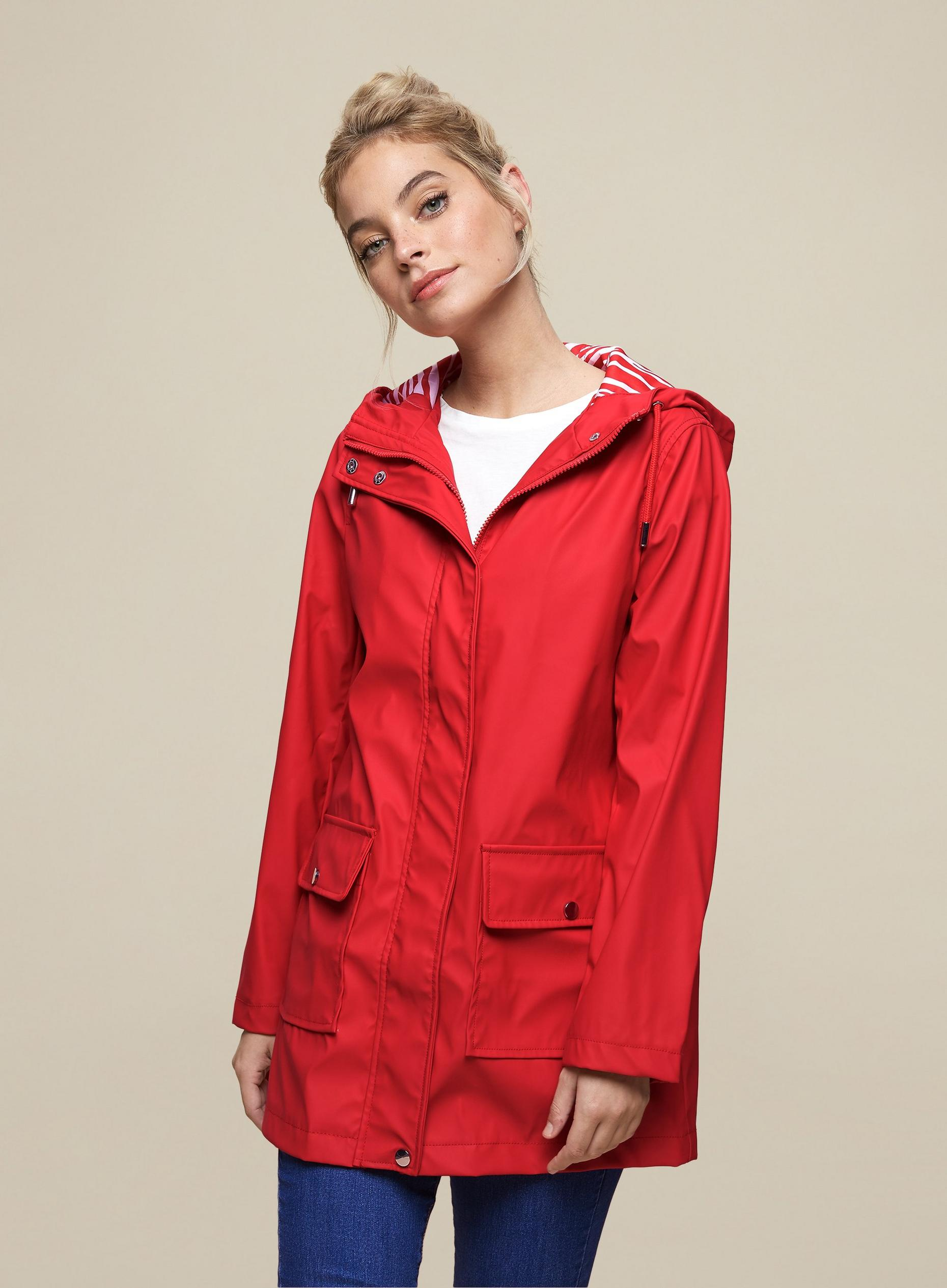 DP Petite Red PU Raincoat